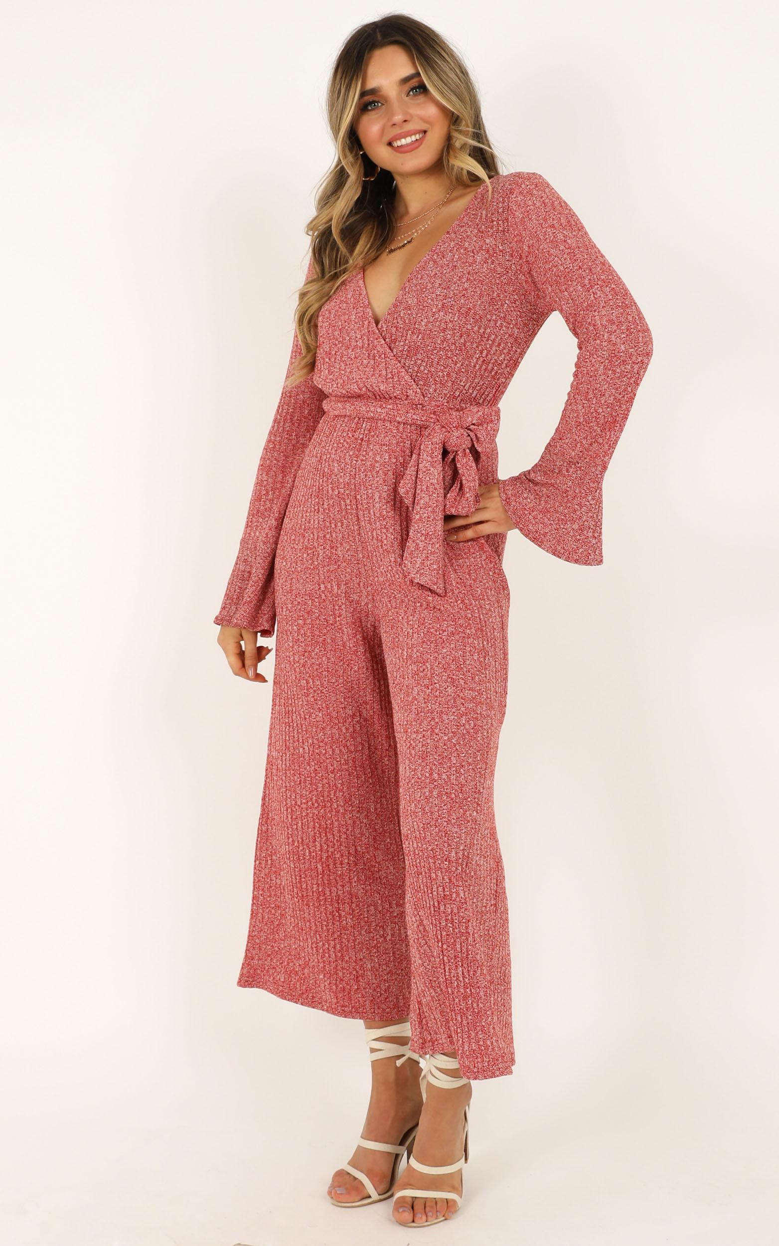 Feel Like Flying Jumpsuit in rust marle- 20 (XXXXL), Rust, hi-res image number null
