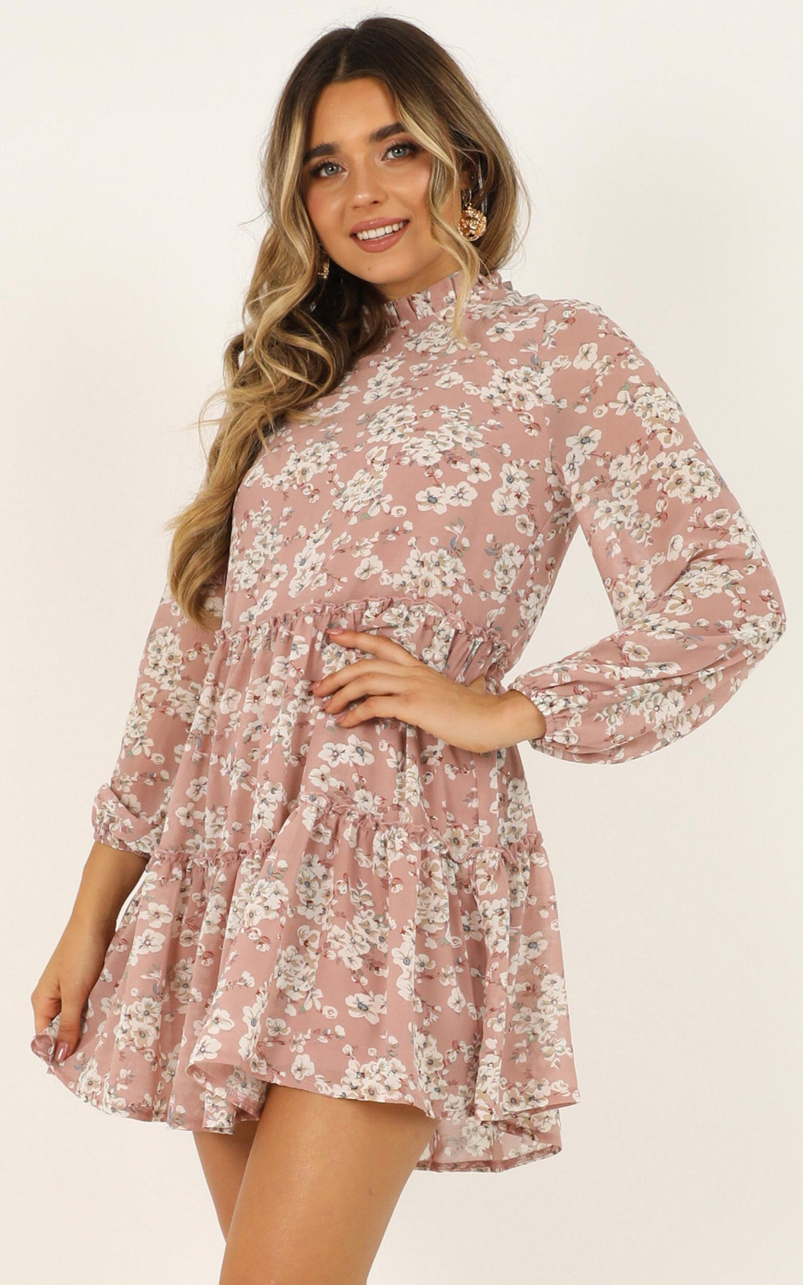 Have Trust Dress in blush floral - 14 (XL), Blush, hi-res image number null