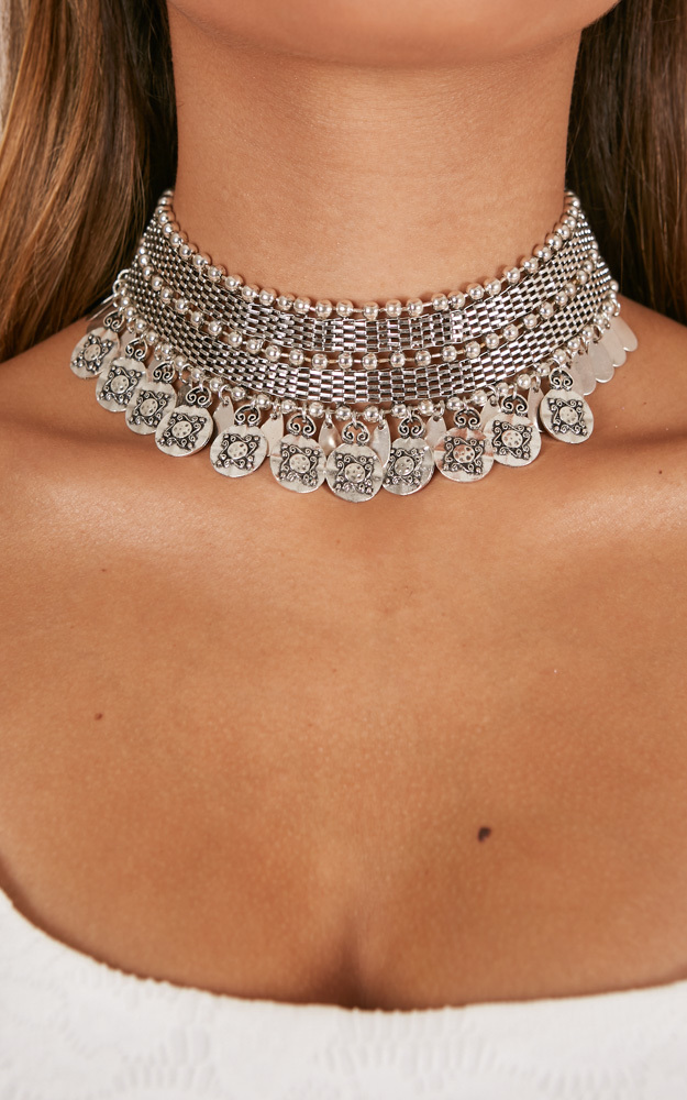Byron Bliss choker in silver, , hi-res image number null