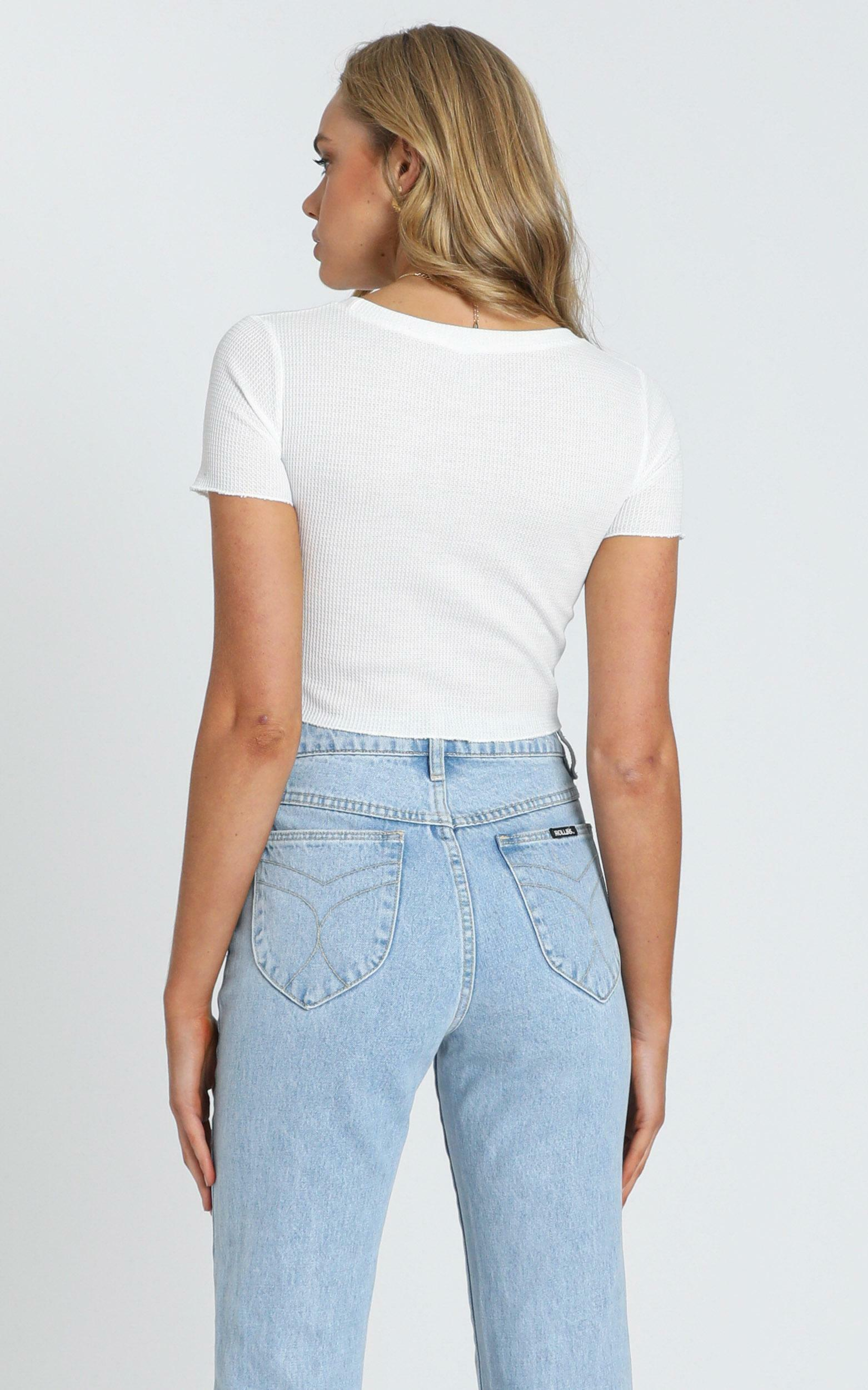 Ezra Textured T-Shirt in White - 6 (XS), White, hi-res image number null