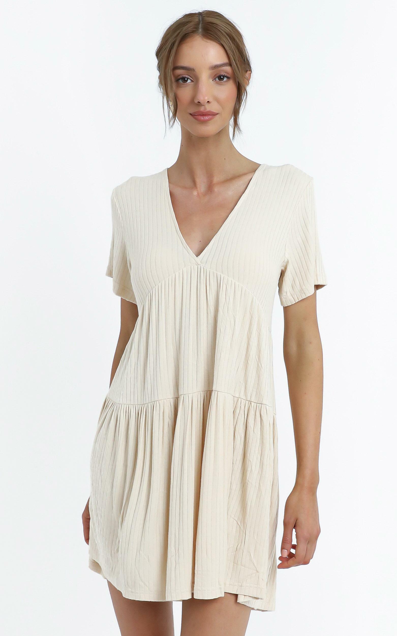 Freja Dress in Sand - 12 (L), Beige, hi-res image number null