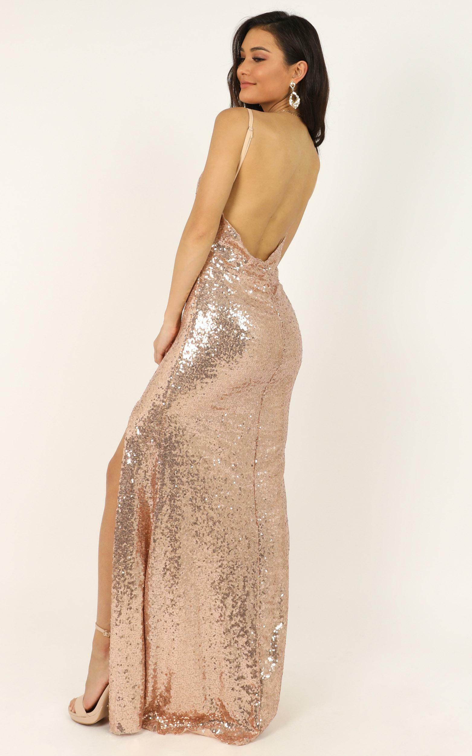 My Kind of Occasion Dress in gold sequin - 12 (L), Gold, hi-res image number null