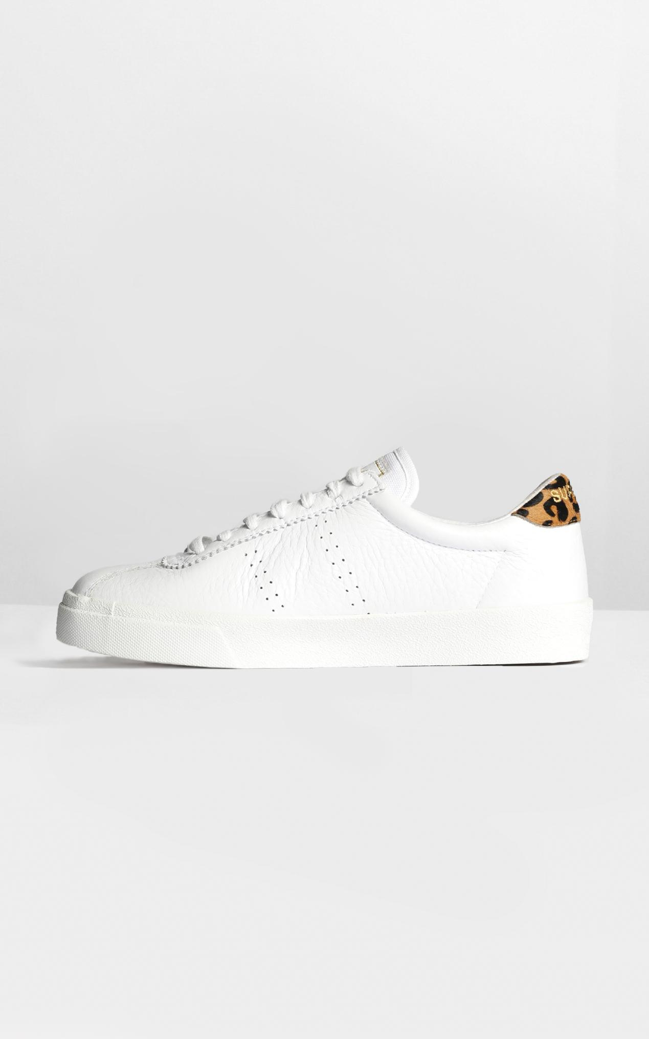 Superga - 2843 Comflea Leopard in white animalier - 9.5, White, hi-res image number null