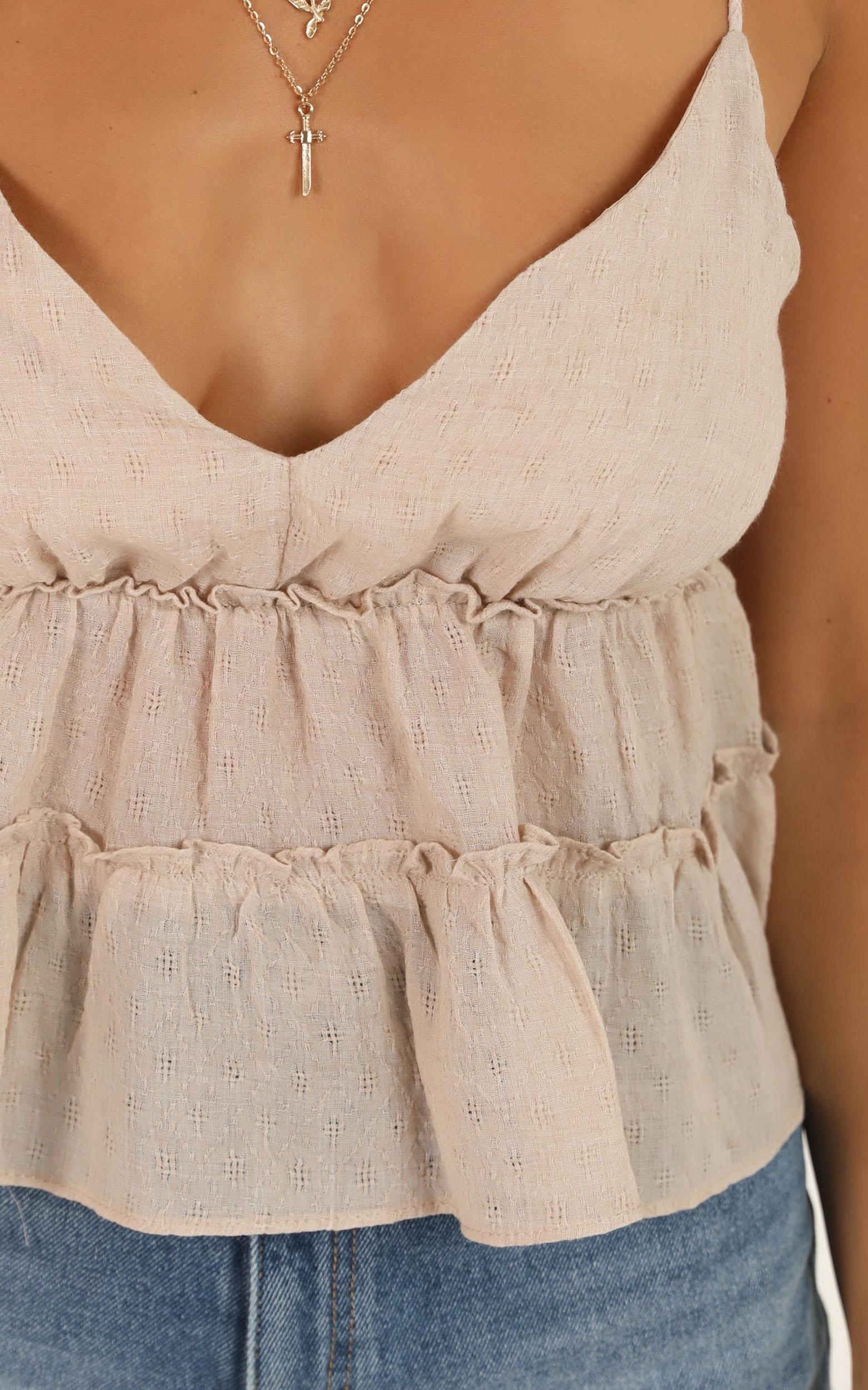 Less Complaining top in blush - 12 (L), Blush, hi-res image number null
