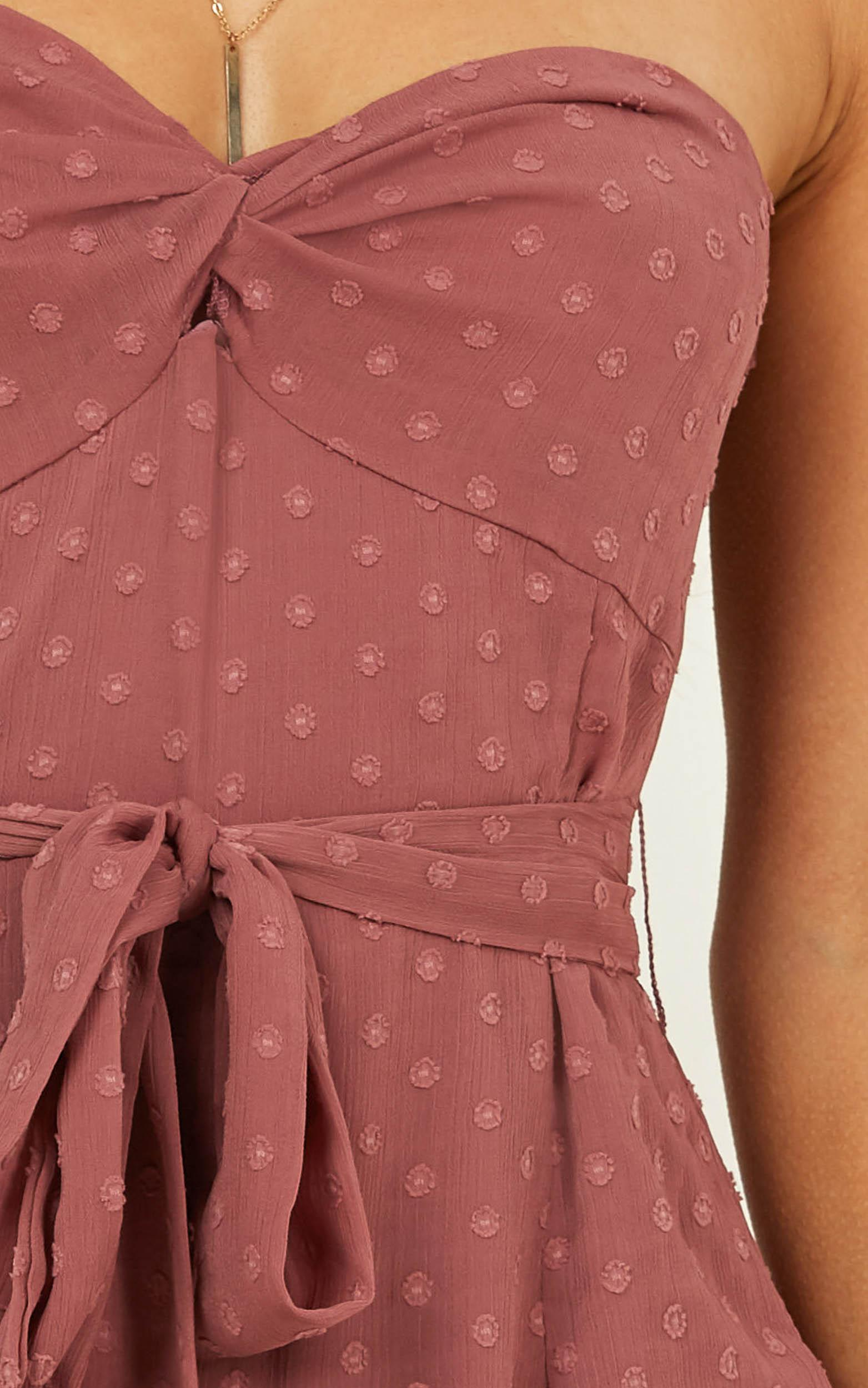 Belong With Me Playsuit In dusty rose - 20 (XXXXL), Pink, hi-res image number null