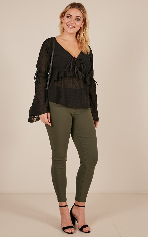 Sweetheart Class top in black - 14 (XL), Black, hi-res image number null