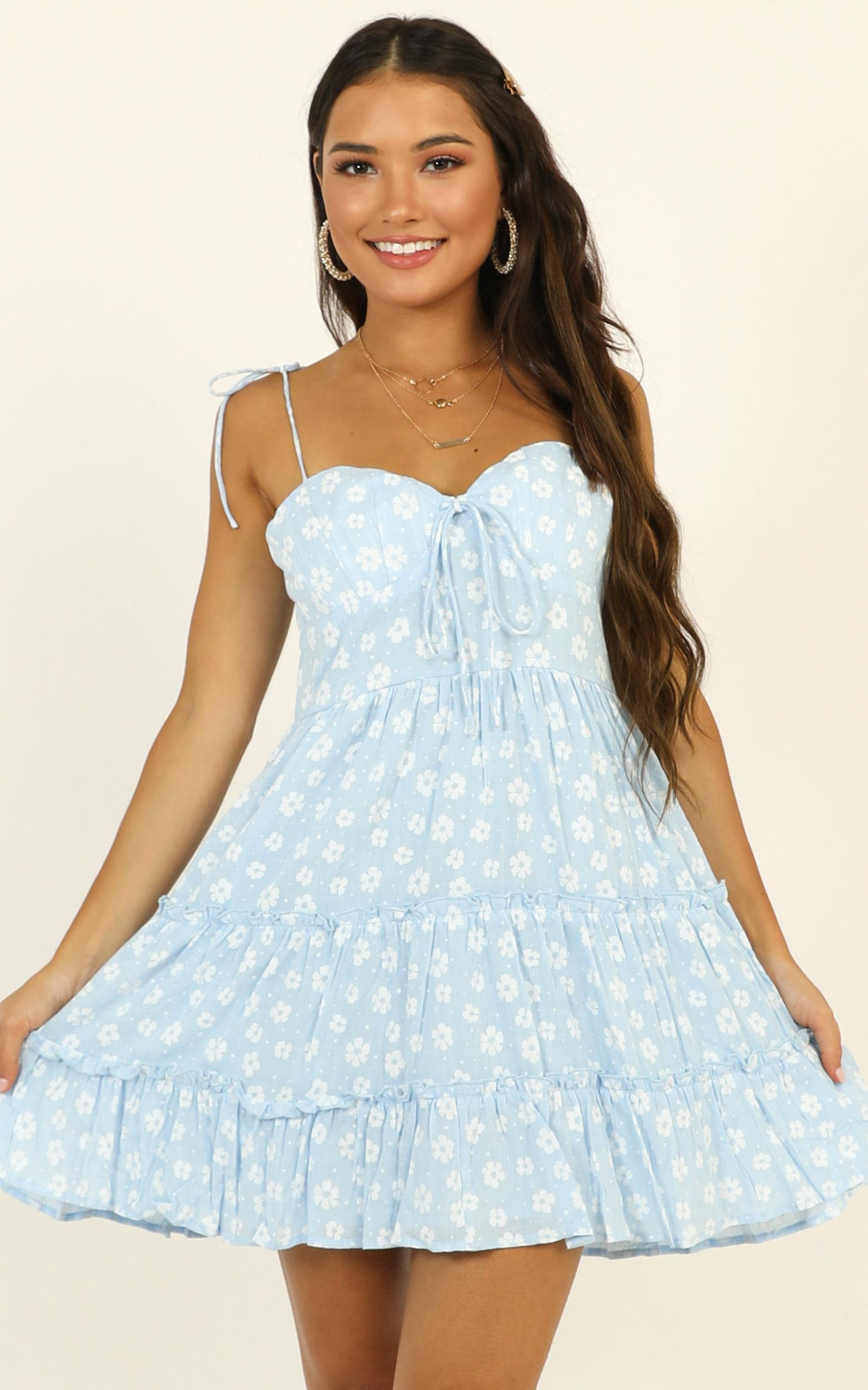 Learning Everyday dress in blue floral - 16 (XXL), Blue, hi-res image number null