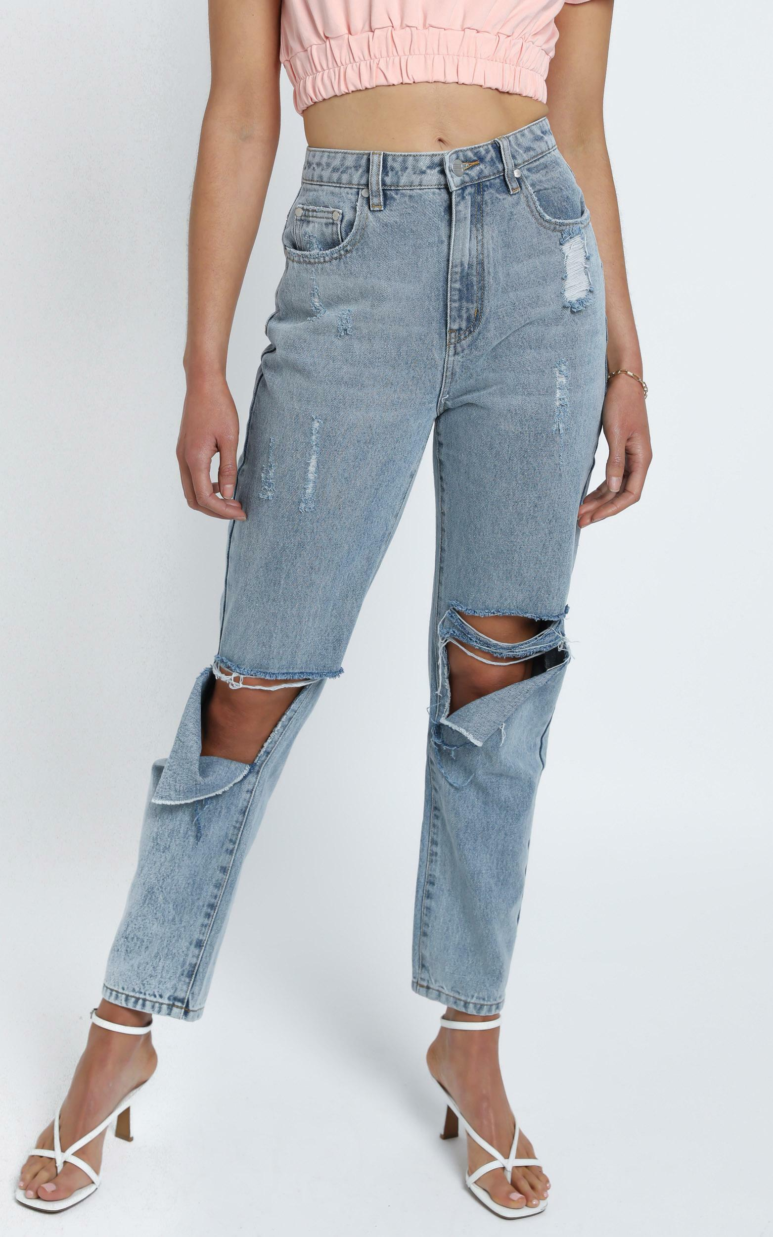 Twiin - Royals Tapered Jean in Light Denim Wash - 4 (XXS), Blue, hi-res image number null
