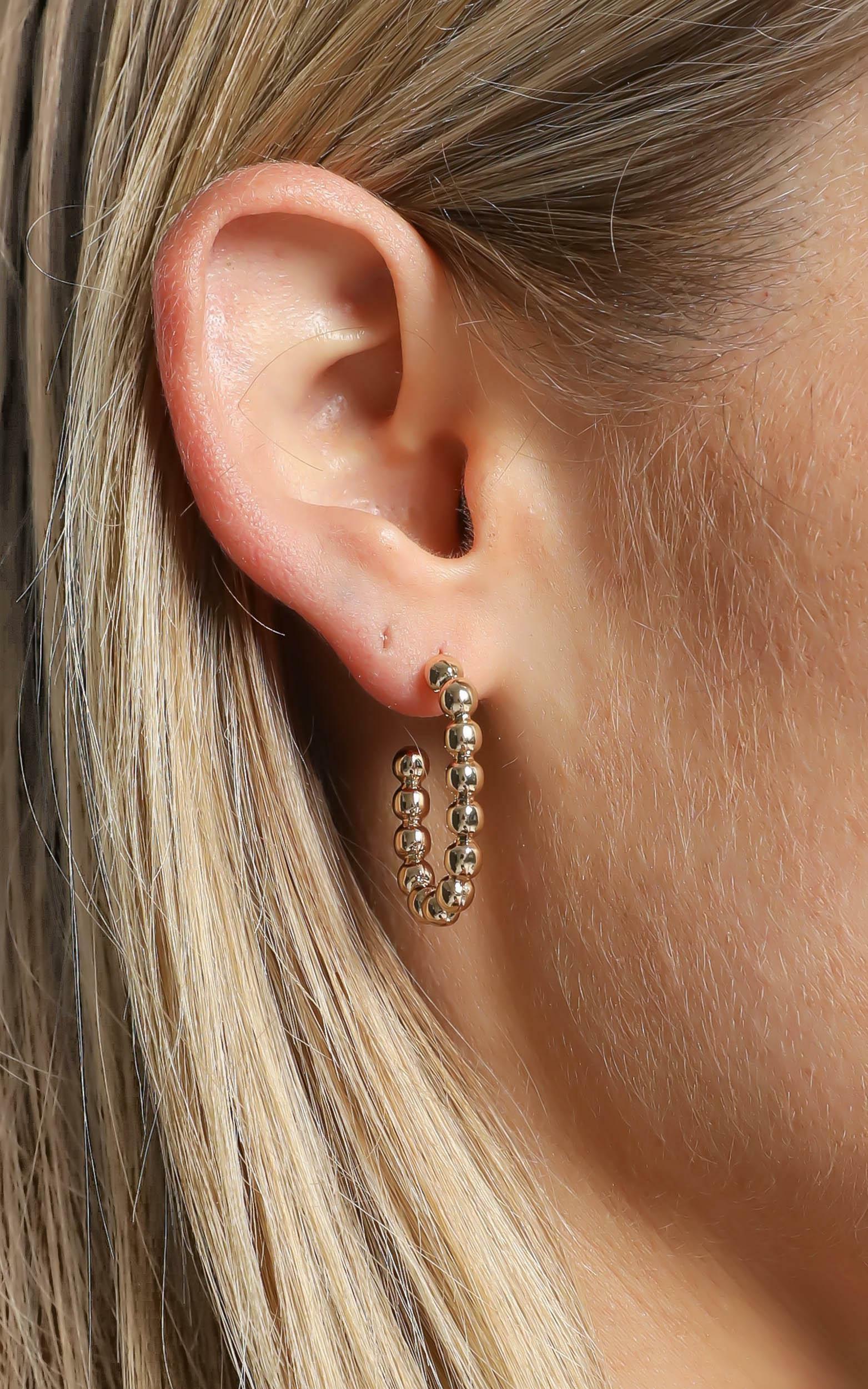 Jasper Earrings in Gold, , hi-res image number null