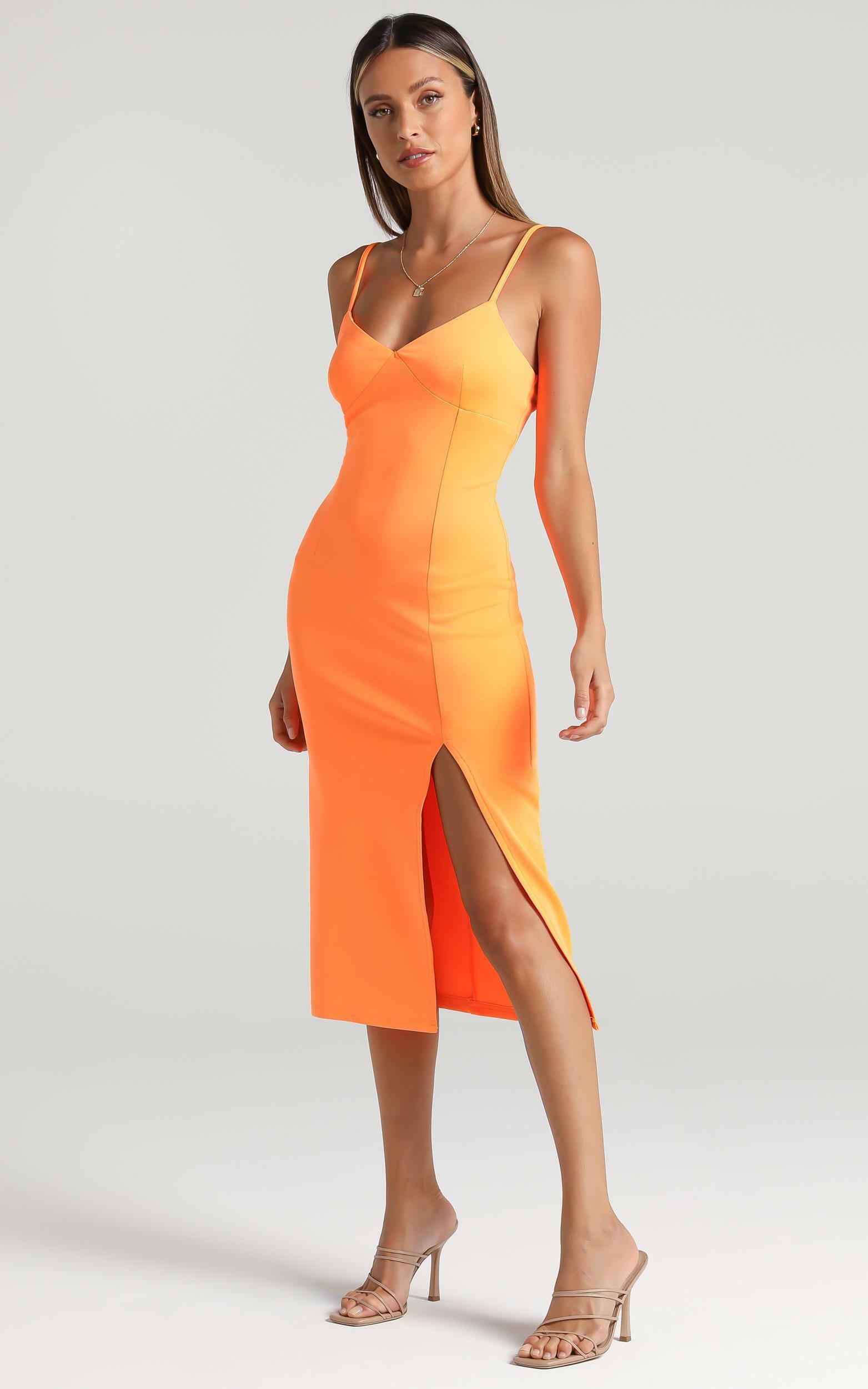Amaliah Dress in Orange - 6 (XS), Orange, hi-res image number null