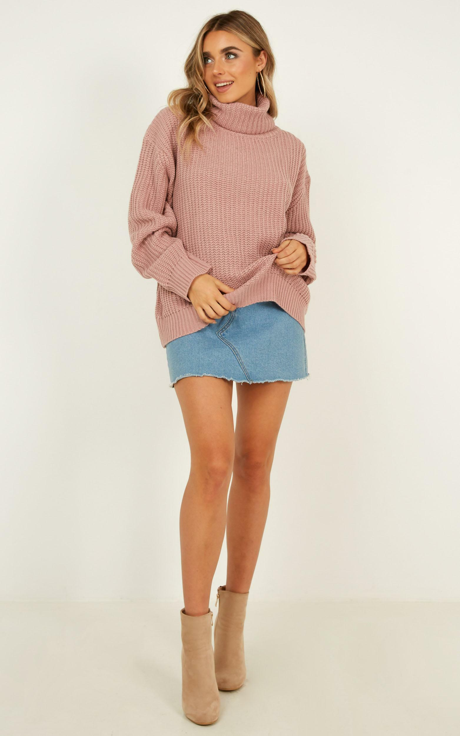 Unresolved Knit Jumper In Blush - 20 (XXXXL), Blush, hi-res image number null