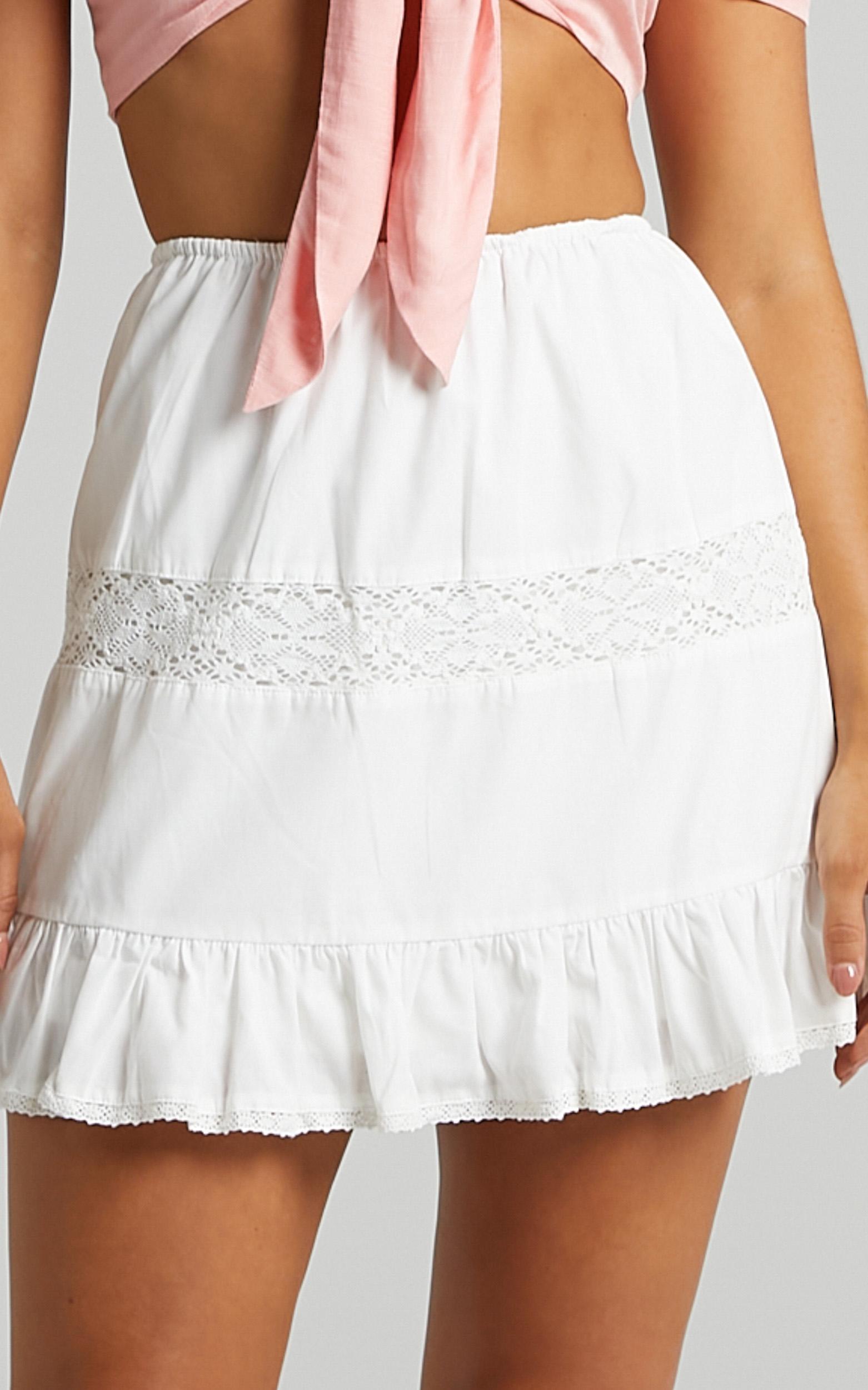 Zahra Skirt in White - 6 (XS), White, hi-res image number null