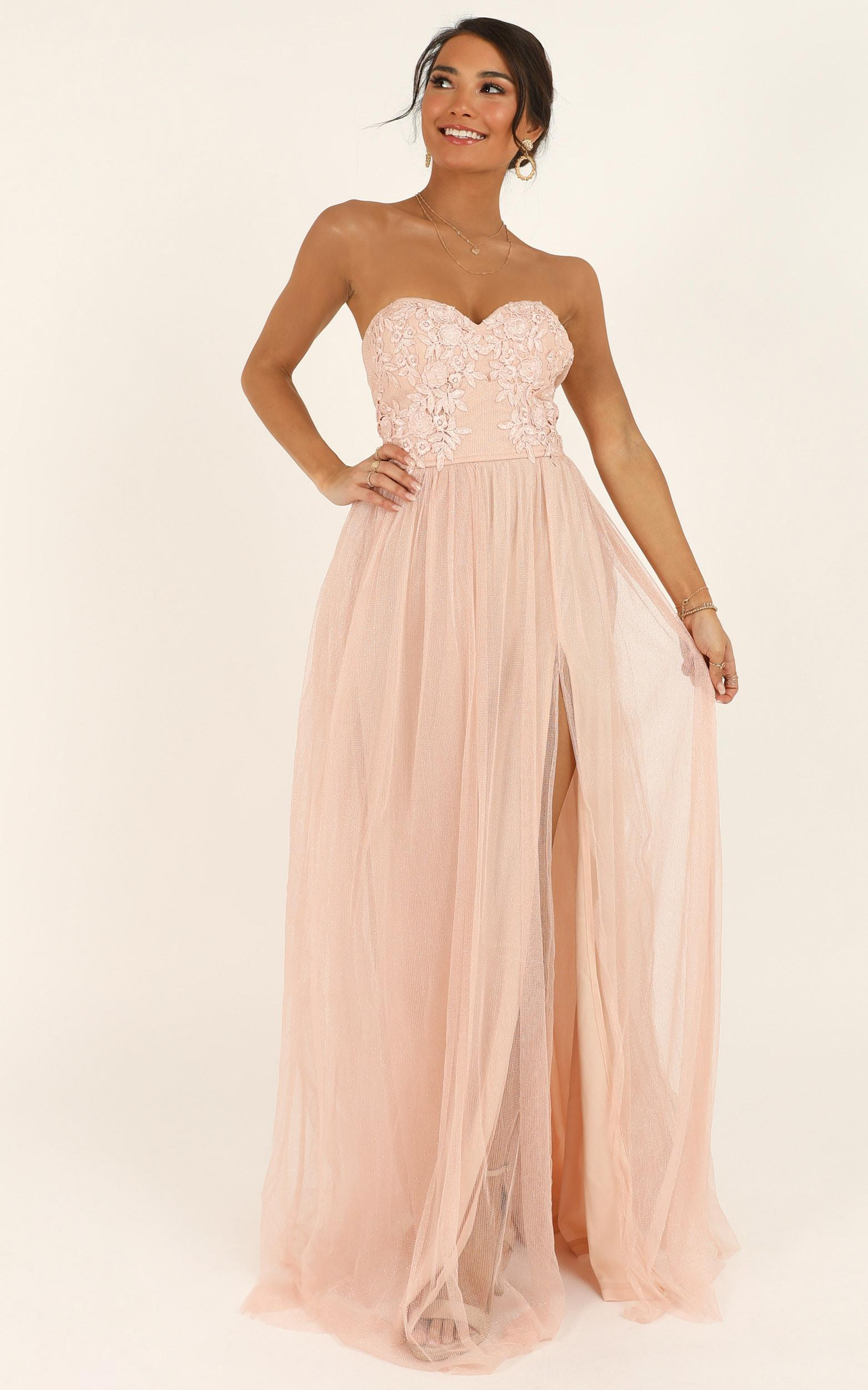 Can't Help It maxi dress in blush - 12 (L), Blush, hi-res image number null