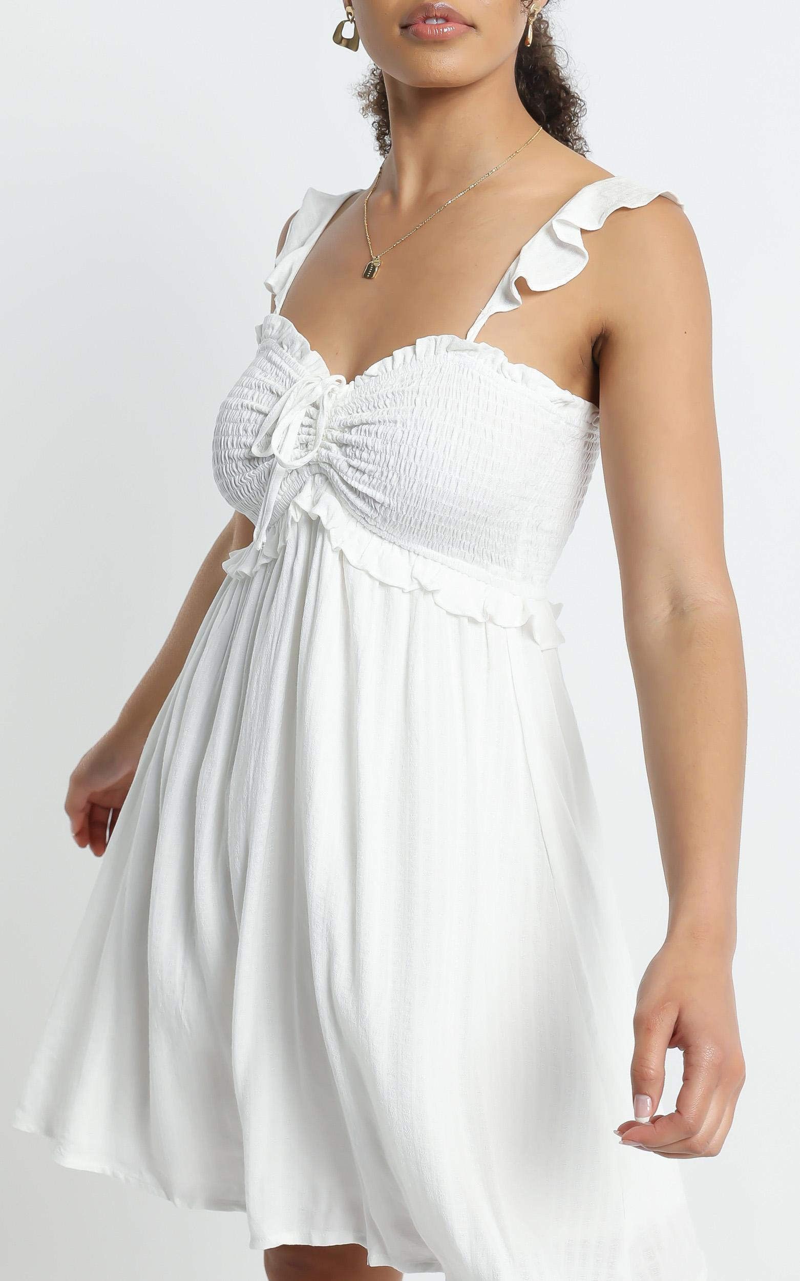 Rissa Dress in White - 6 (XS), White, hi-res image number null