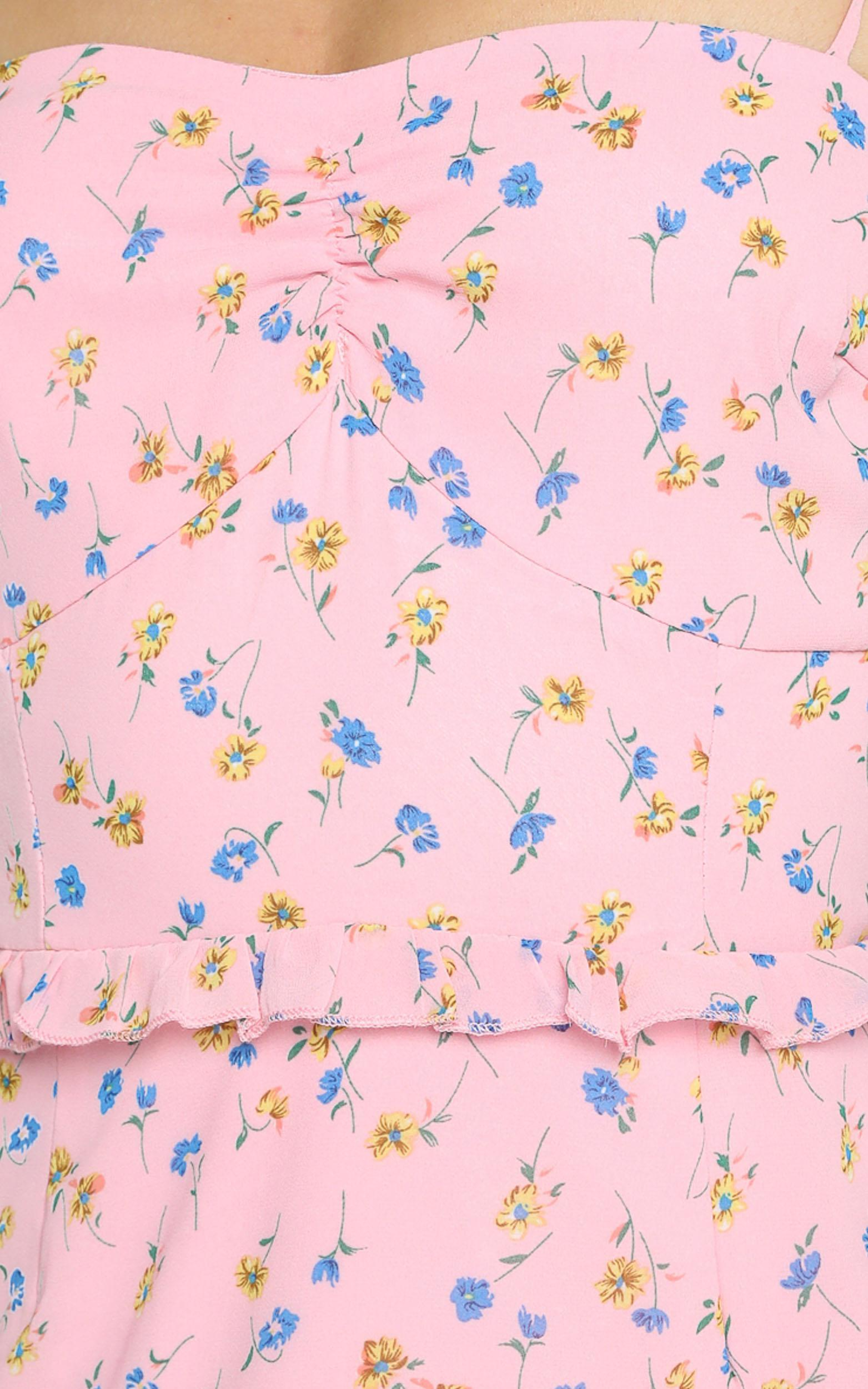 Didnt Know Dress in pink floral - 4 (XXS), Pink, hi-res image number null