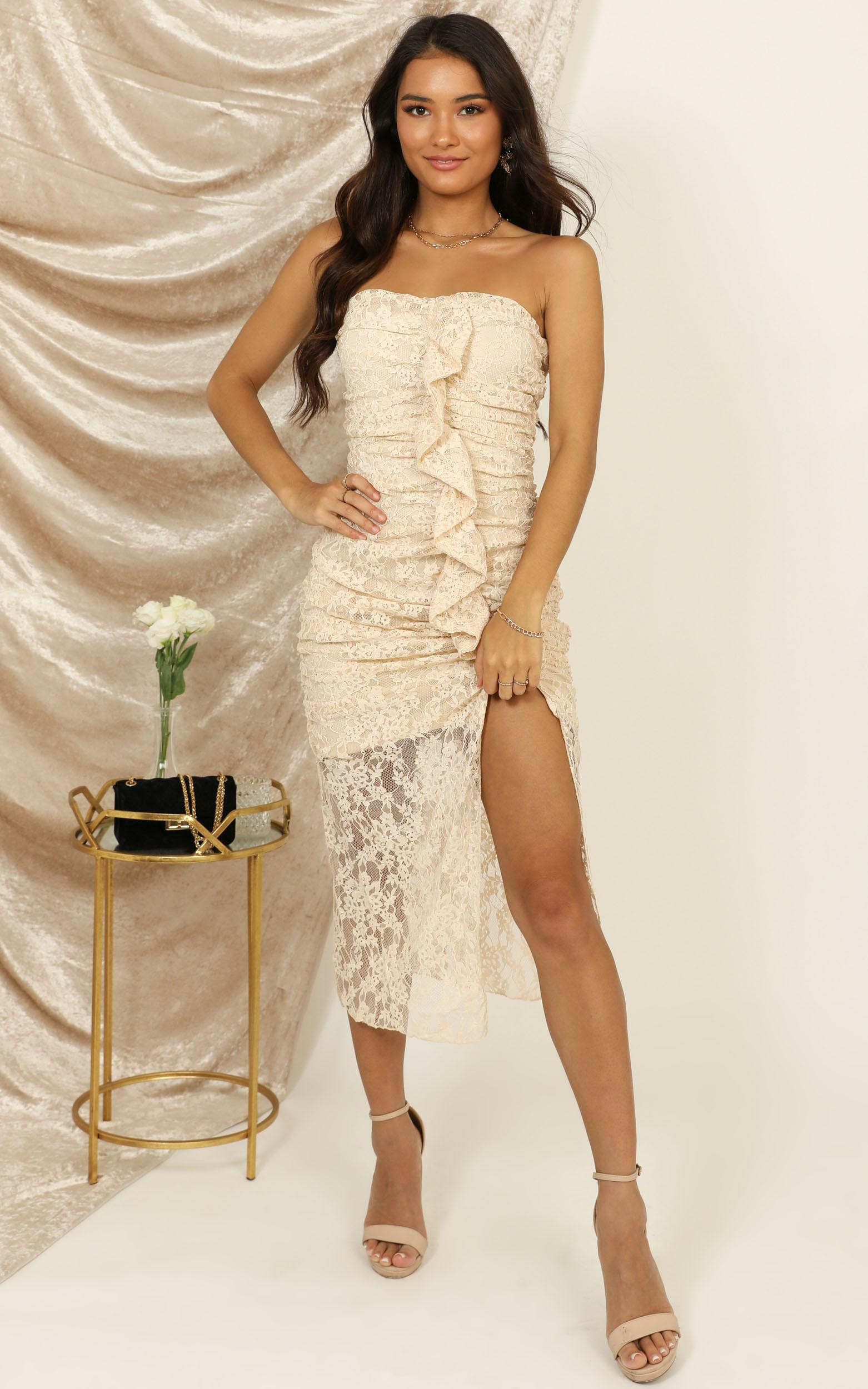 New Chapter dress in cream lace - 12 (L), Cream, hi-res image number null