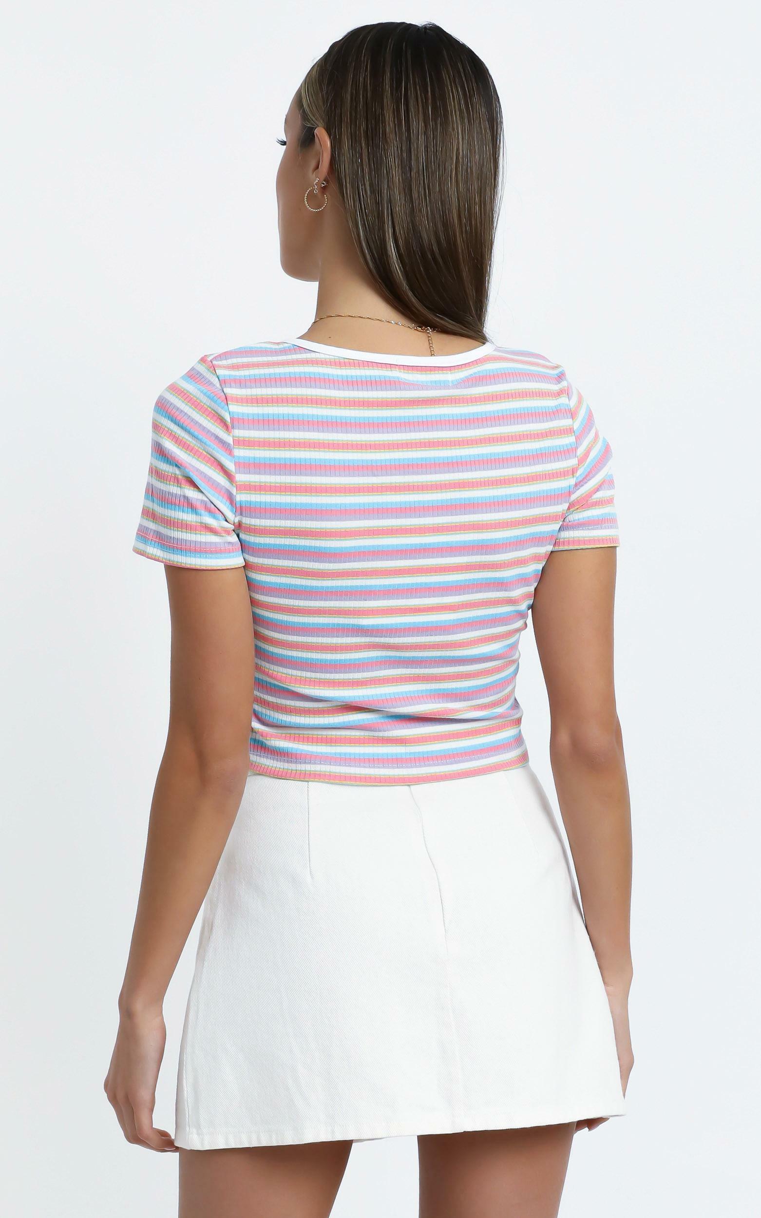 Tara Top in Red Stripe - L, Blush, hi-res image number null