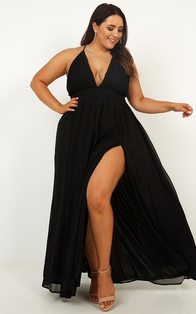 Shes A Delight Maxi Dress In Black - 4 (XXS), Black, hi-res image number null