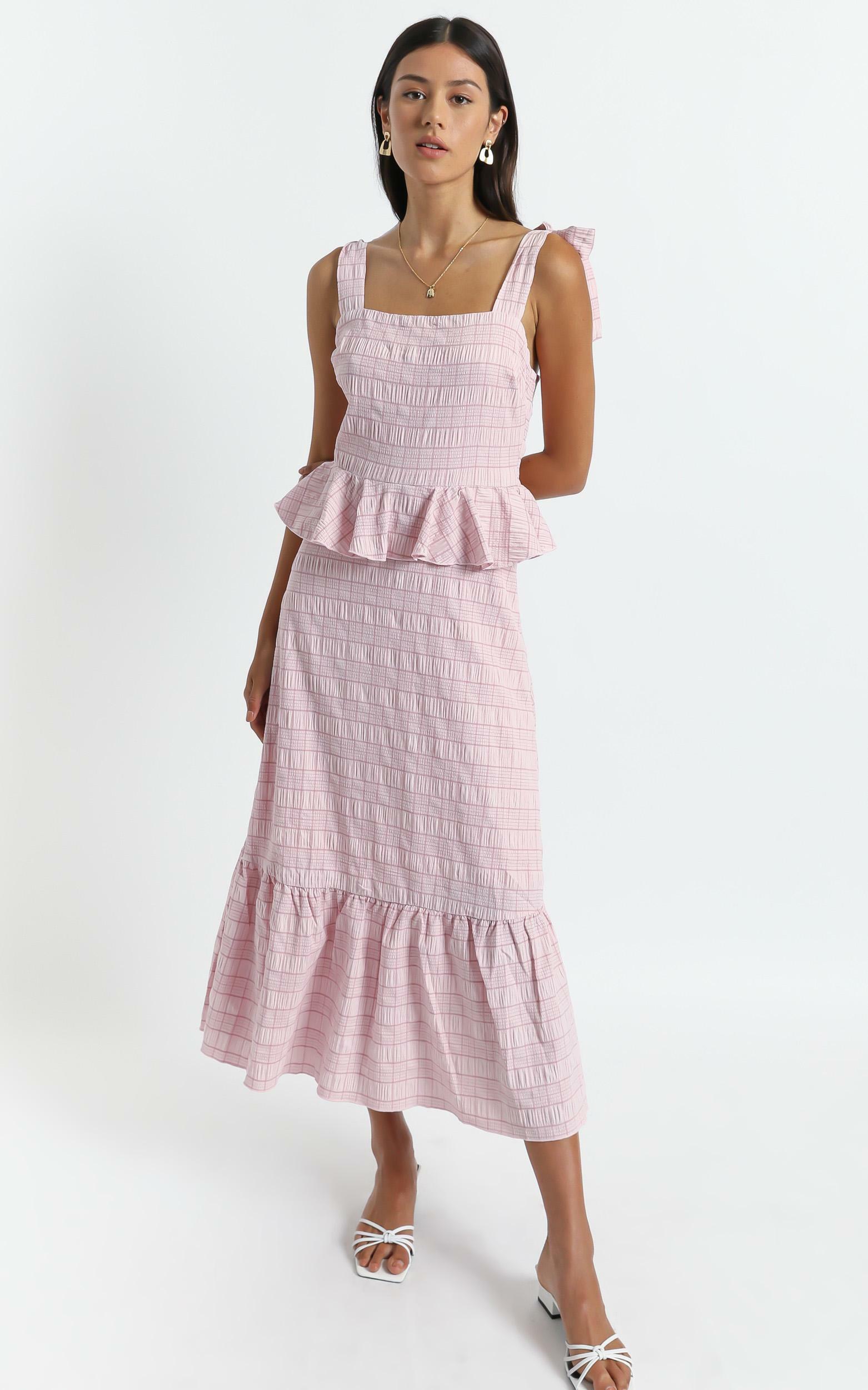 Alane Dress in Blush Check - 6 (XS), Blush, hi-res image number null