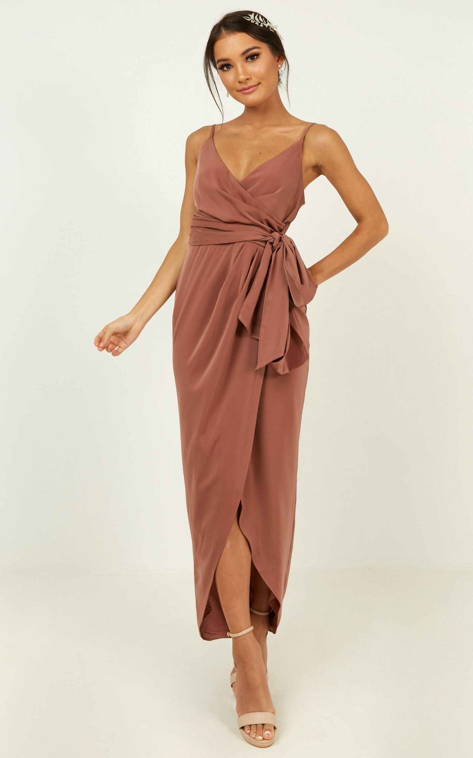 How will I know dress in dusty rose - 14 (XL), Pink, hi-res image number null