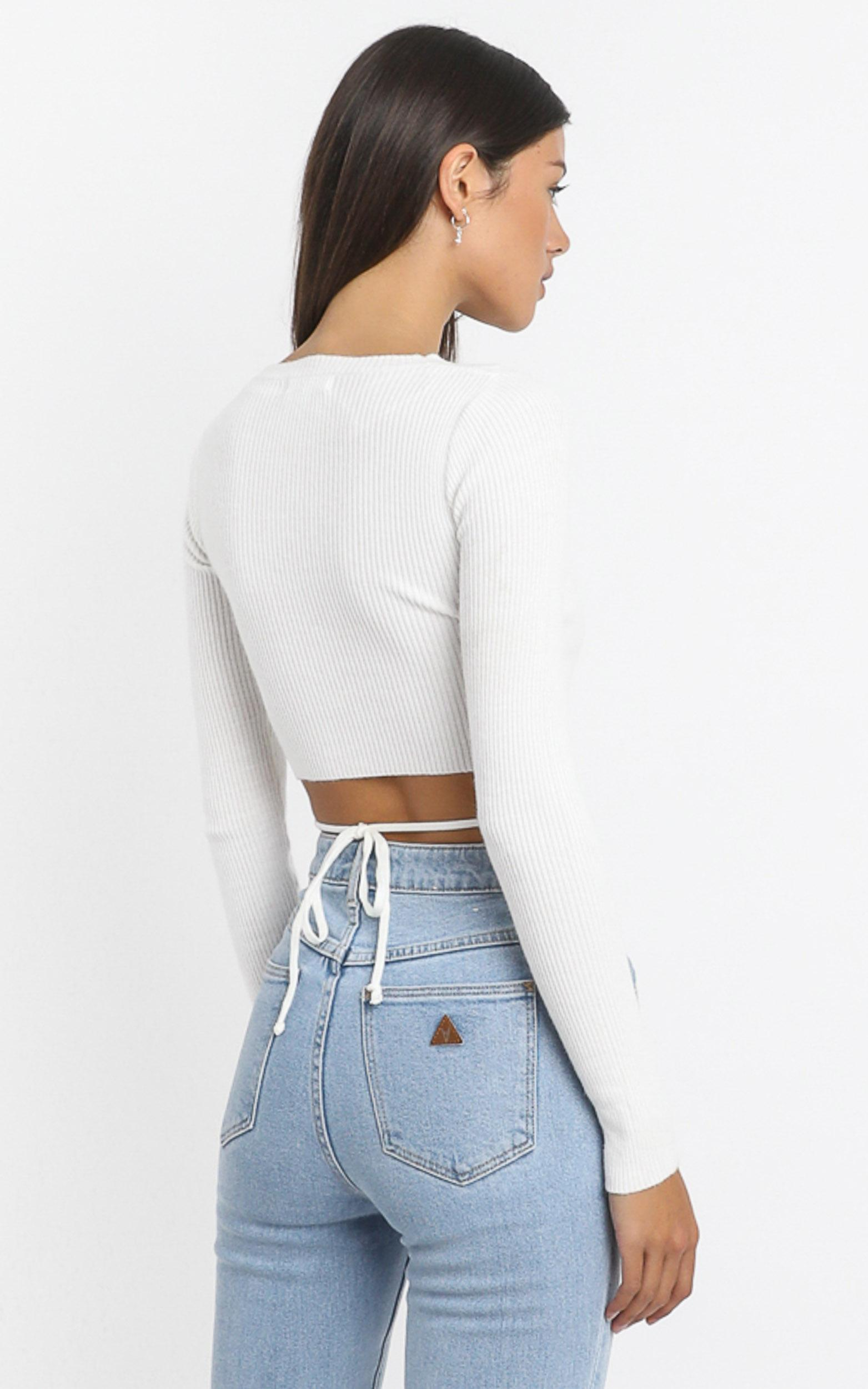 Drystan Knit Top in White - 8 (S), White, hi-res image number null
