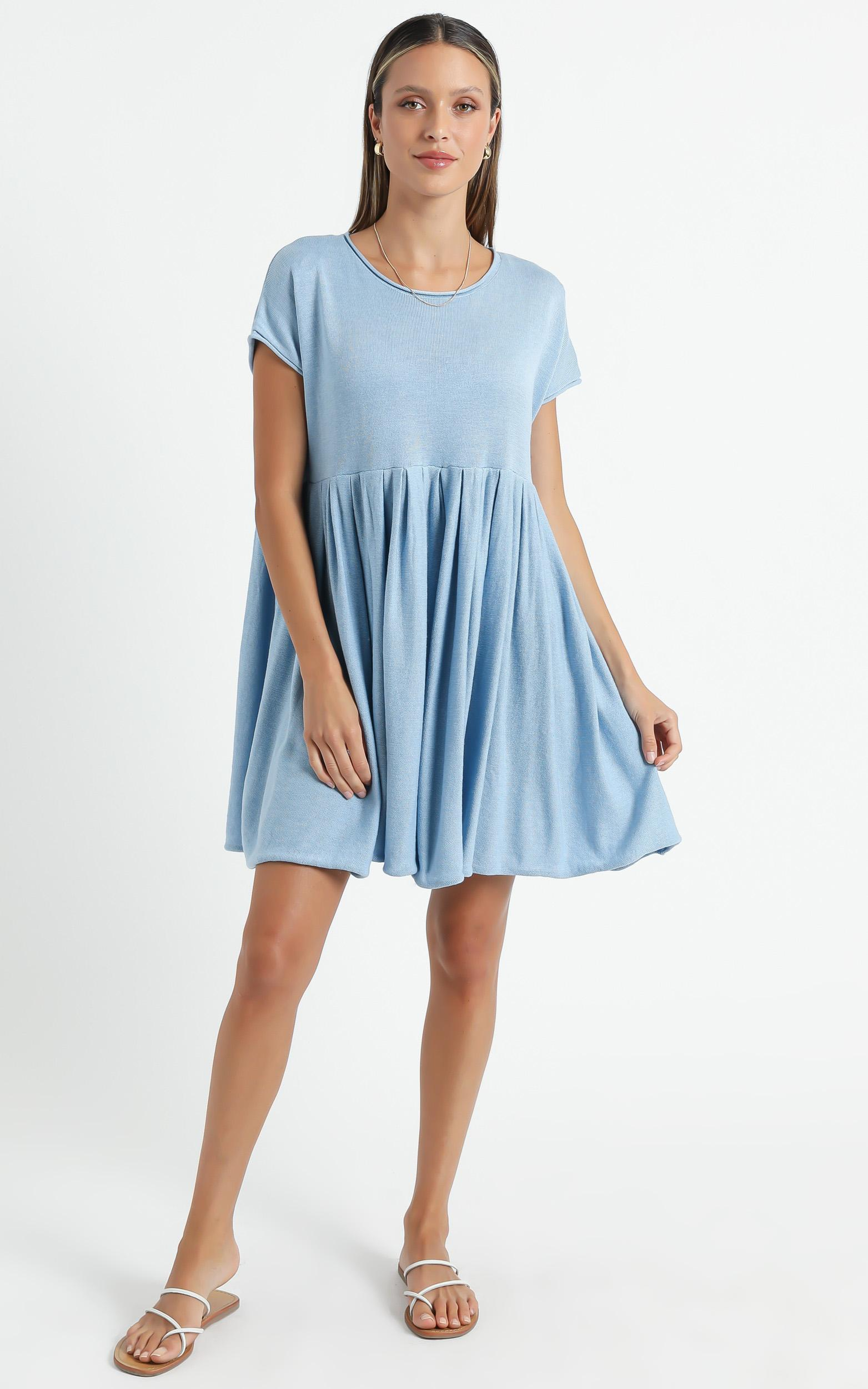 Embry Knit Dress in Powder Blue - 6 (XS), BLU1, hi-res image number null