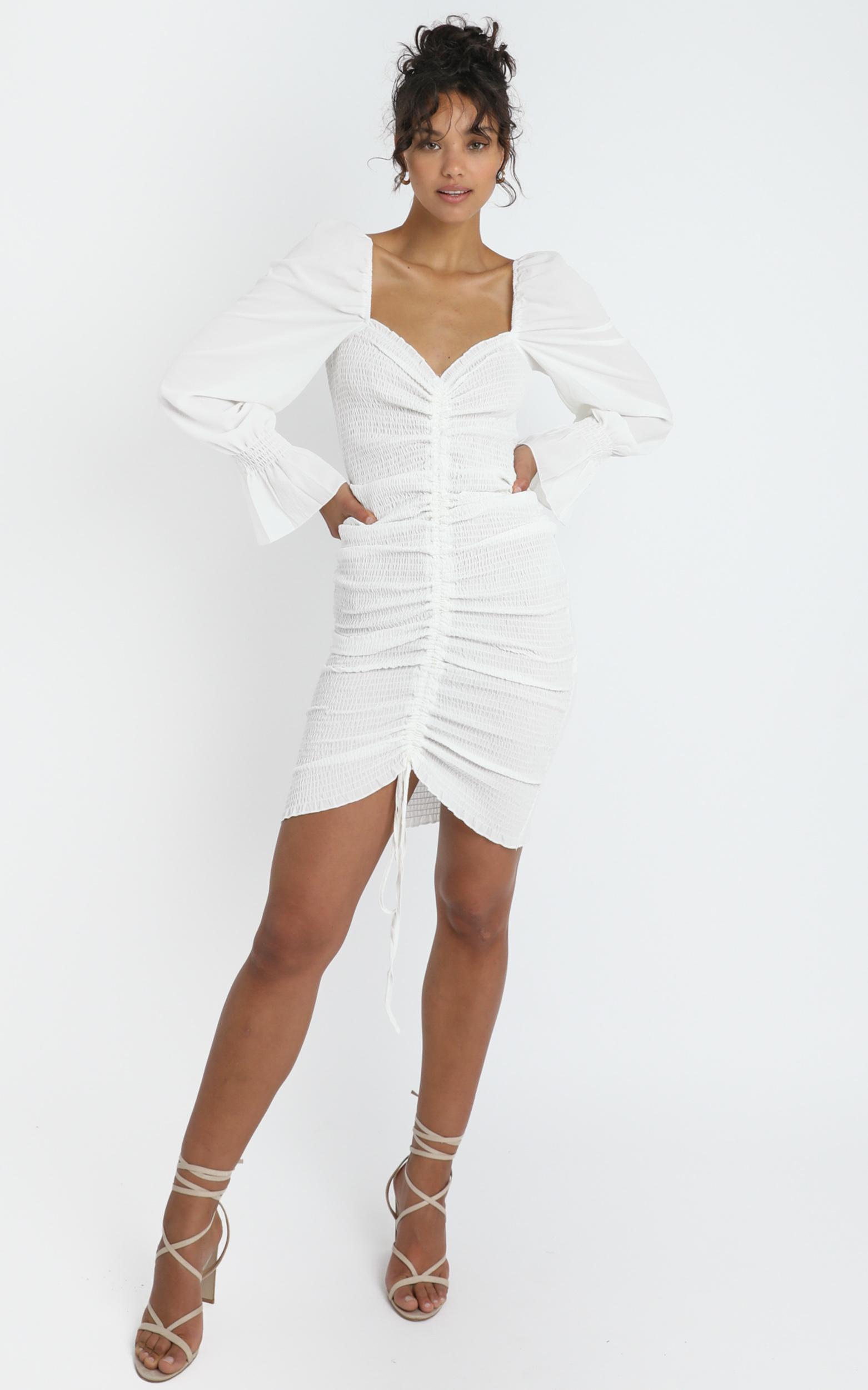 Megan Dress in White - 6 (XS), White, hi-res image number null