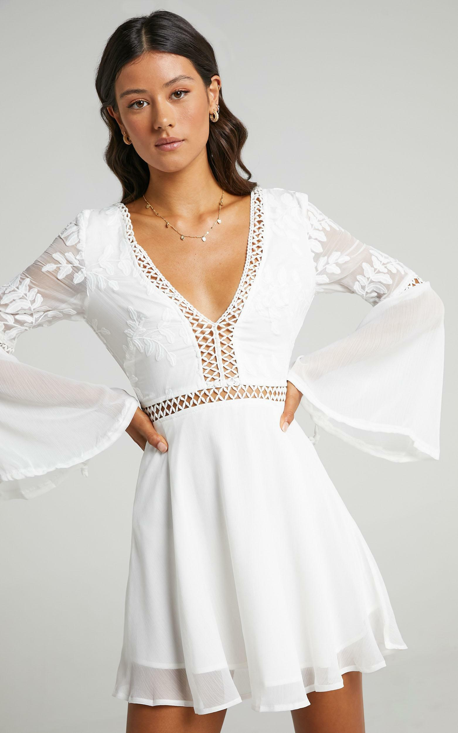 Stop Pretending Dress in White - 12, WHT2, hi-res image number null