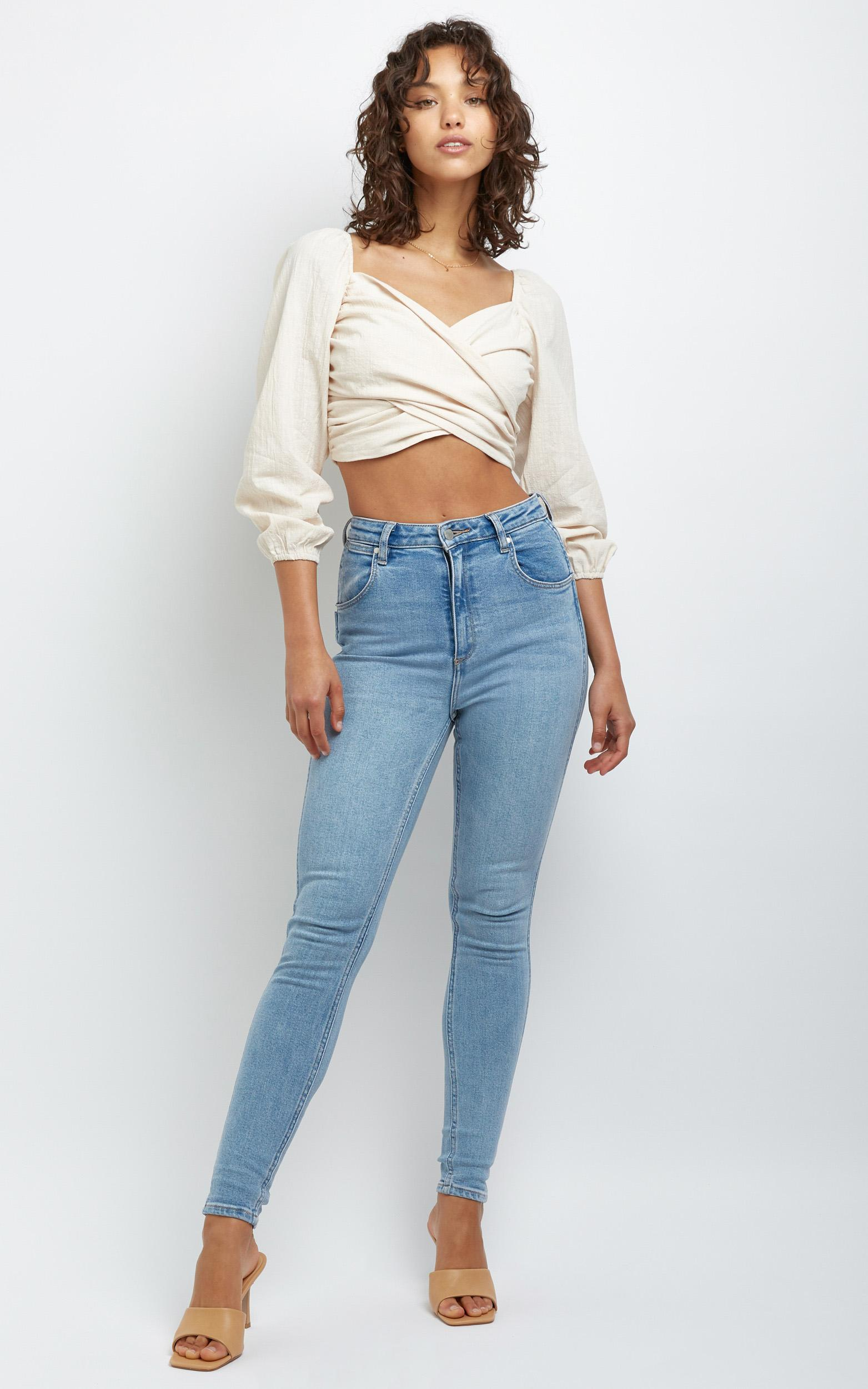 Alyce Long Sleeve Top in Beige - 14 (XL), CRE1, hi-res image number null