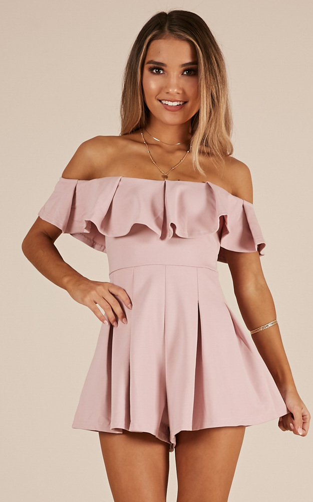 Contain My Love playsuit in blush - 8 (S), Blush, hi-res image number null