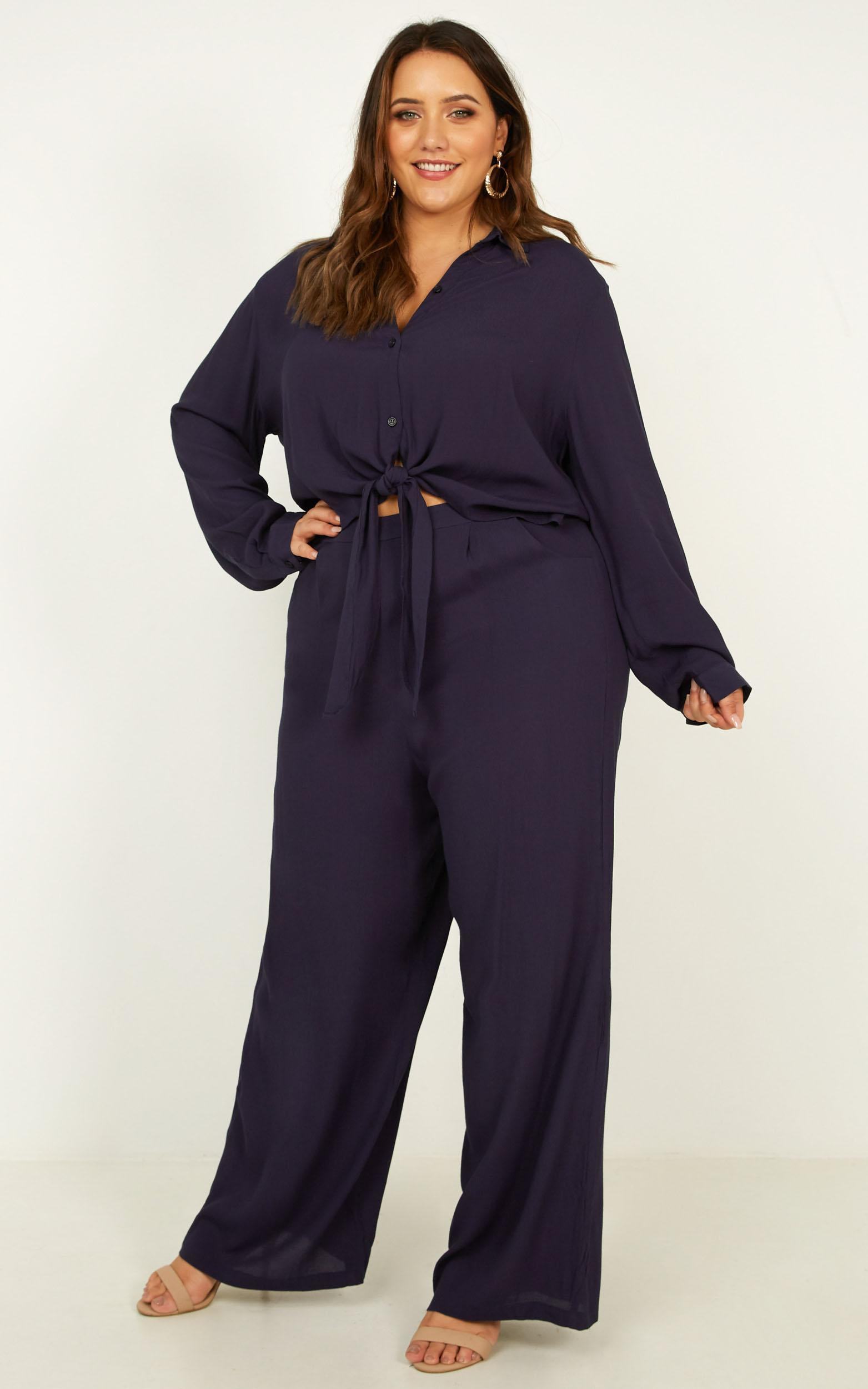 See The Universe Two Piece Set In navy - 20 (XXXXL), Navy, hi-res image number null