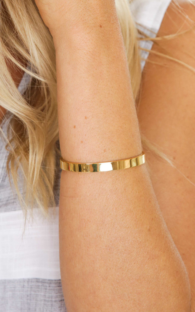 All Hands On Deck cuff in gold, Gold, hi-res image number null
