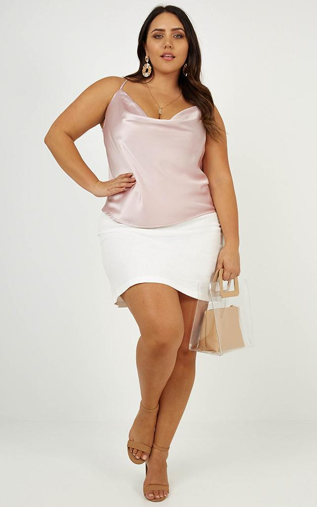 Straight Line top in blush satin - 20 (XXXXL), Blush, hi-res image number null