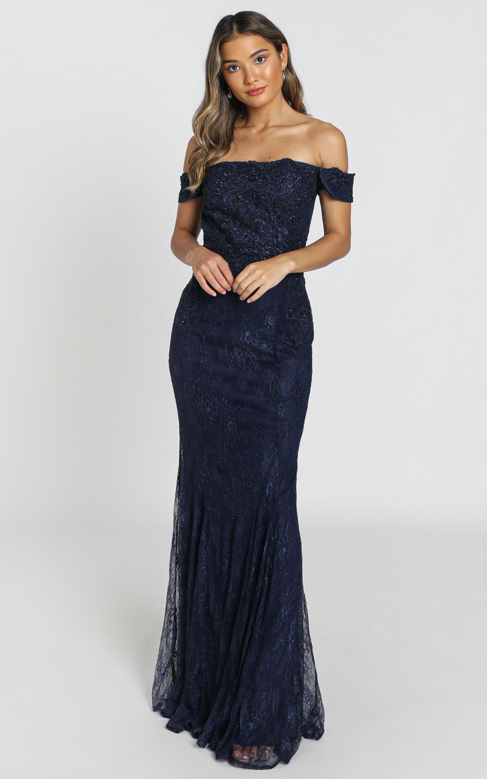 San Pedro Dress in navy - 8 (S), Navy, hi-res image number null