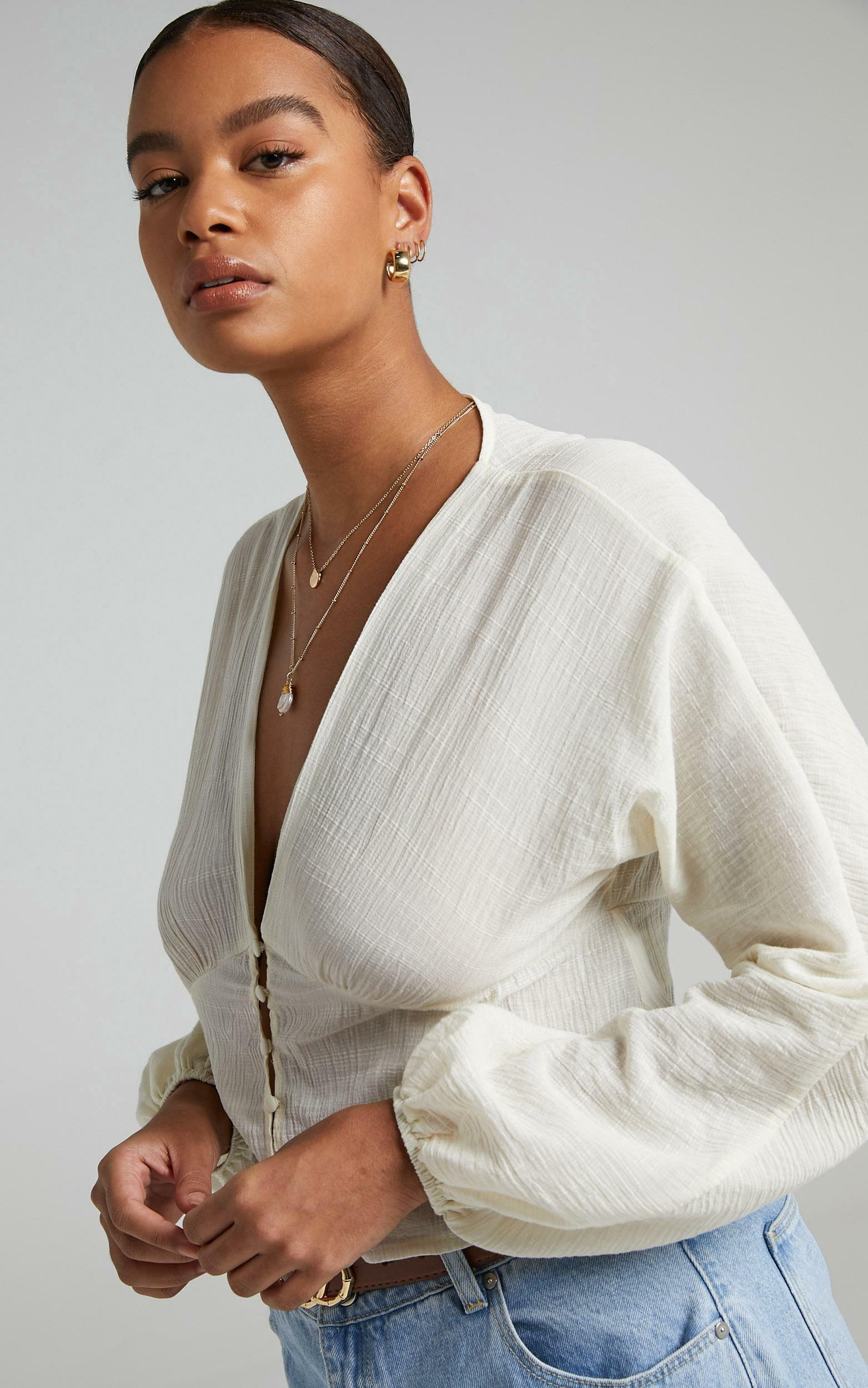 Tomira Blouse in Cream - 06, CRE1, hi-res image number null