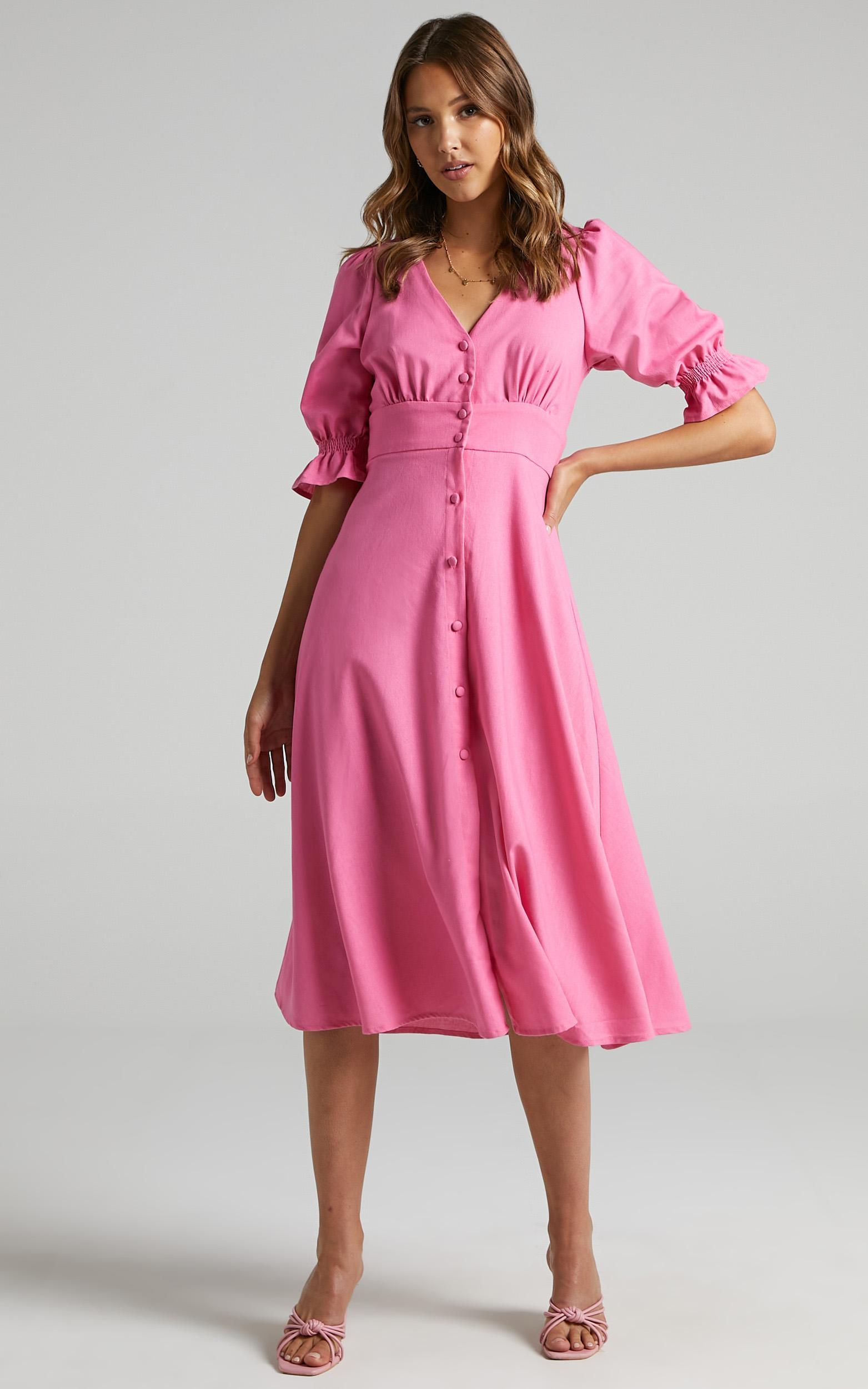 Jaycee Dress in Bubble Gum Pink - 6 (XS), Pink, hi-res image number null