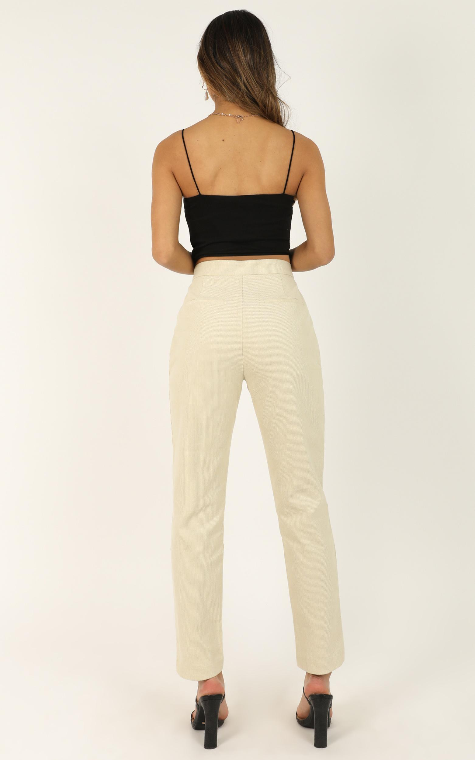 Never Be Alone Pants in cream cord - 20 (XXXXL), Cream, hi-res image number null