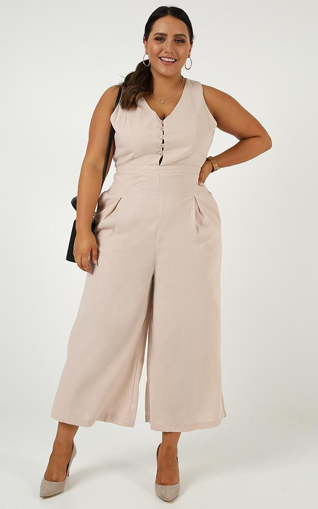 Payment Summary Jumpsuit in nude - 20 (XXXXL), Beige, hi-res image number null
