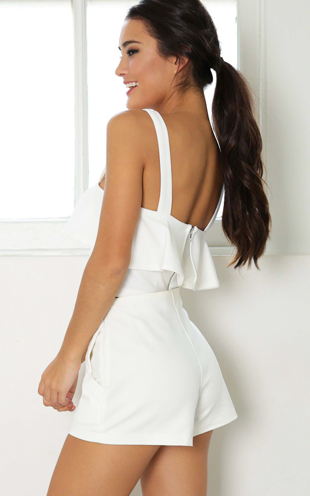 A Little Piece crop top in white - 8 (S), White, hi-res image number null