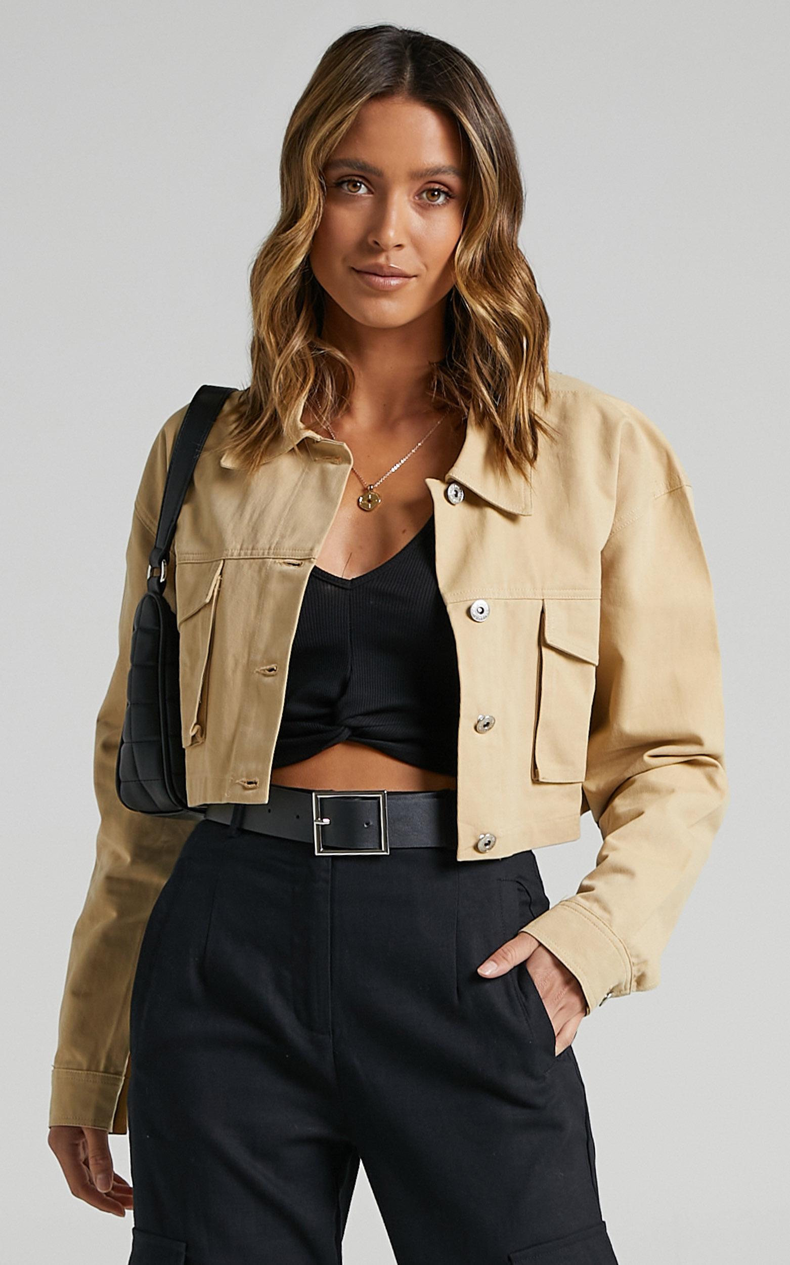 Kincade Jacket in Beige - 14 (XL), Beige, hi-res image number null