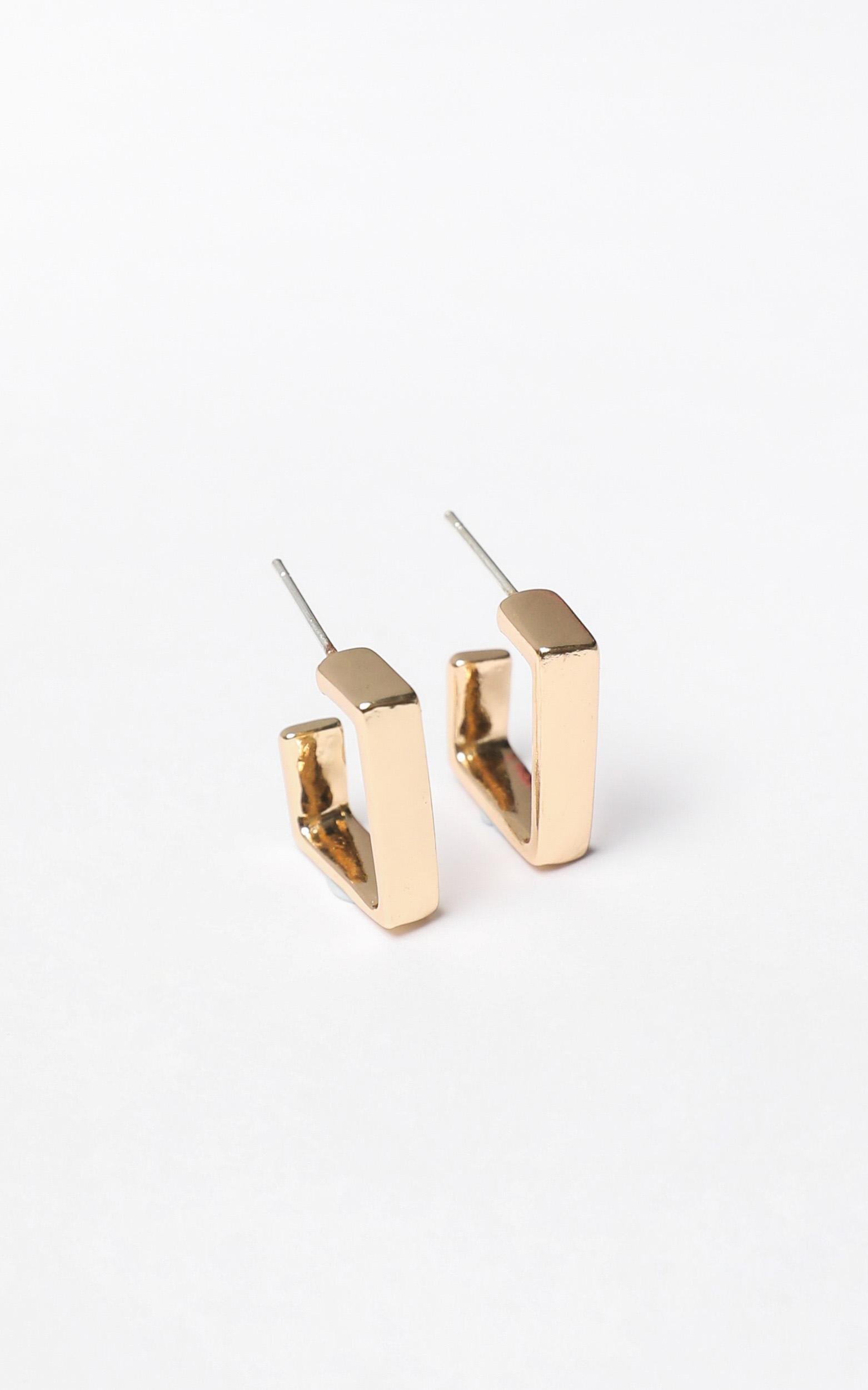 Houston Earrings in Gold, , hi-res image number null