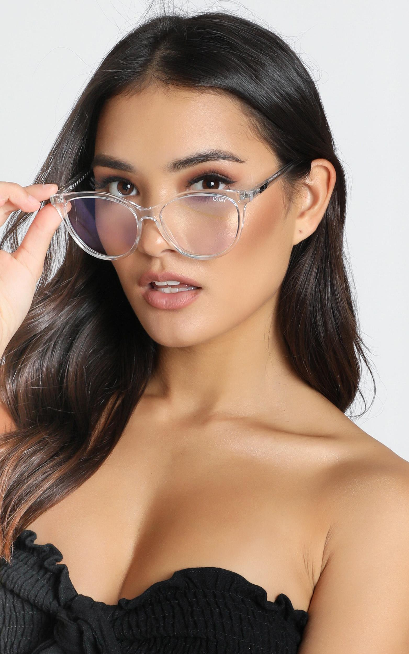 Quay - All Nighter Blue Light Glasses In Clear, Clear, hi-res image number null