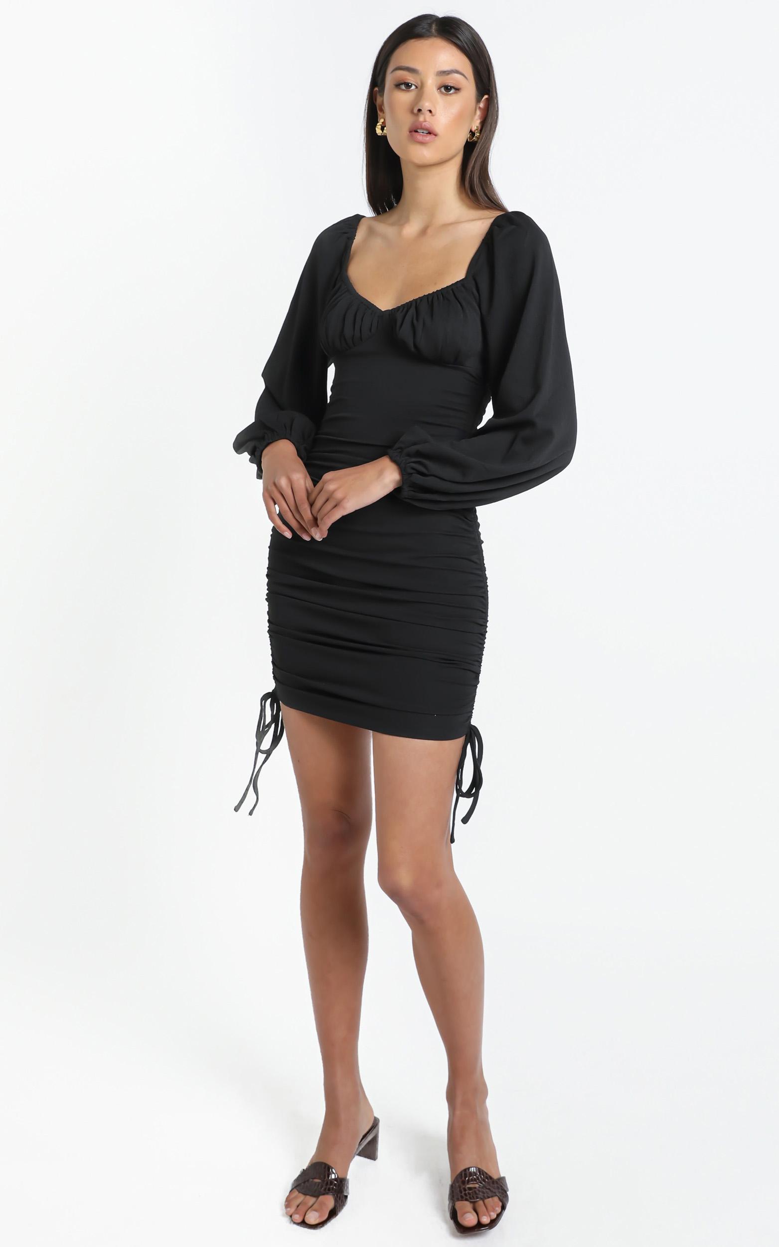 Harrington Dress in Black - 14 (XL), Black, hi-res image number null