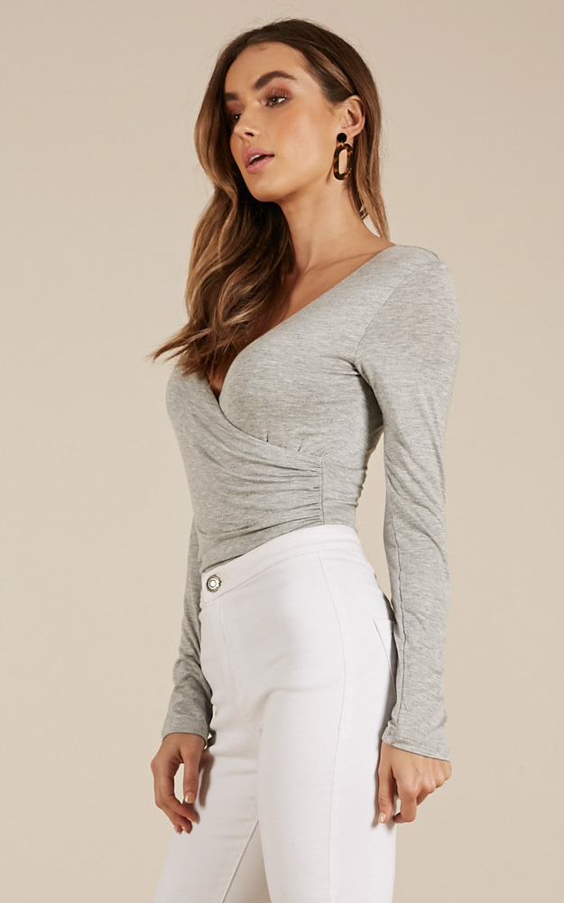 Styles And Breeze top in grey - 20 (XXXXL), Grey, hi-res image number null