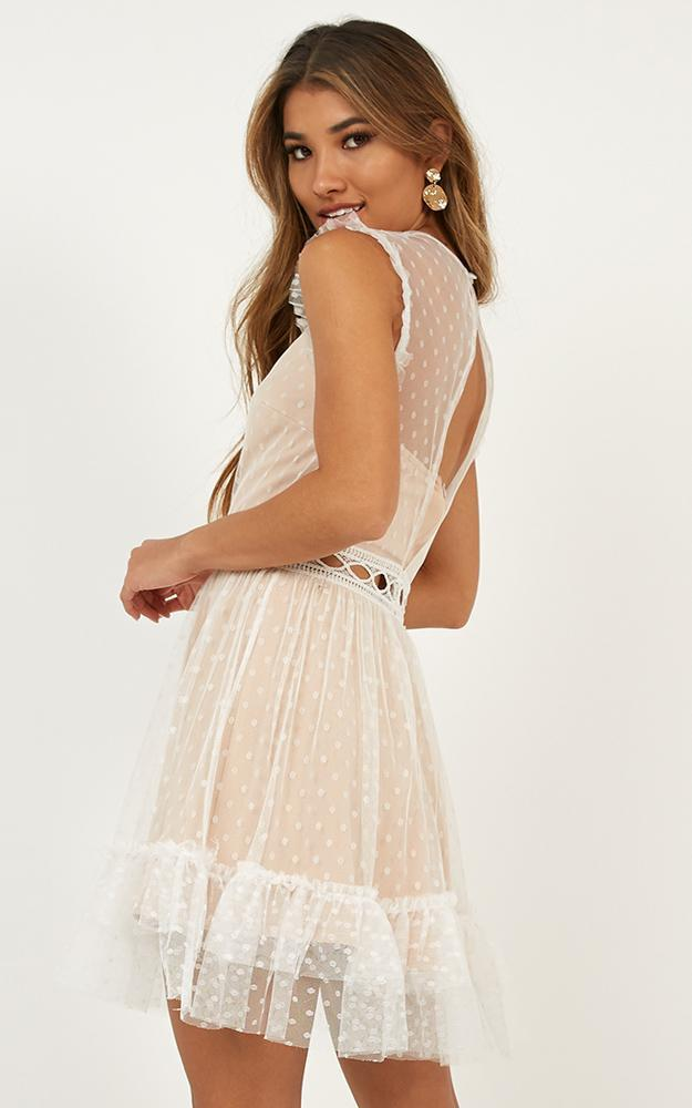 Keep to the Path mini dress in white - 14 (XL), White, hi-res image number null