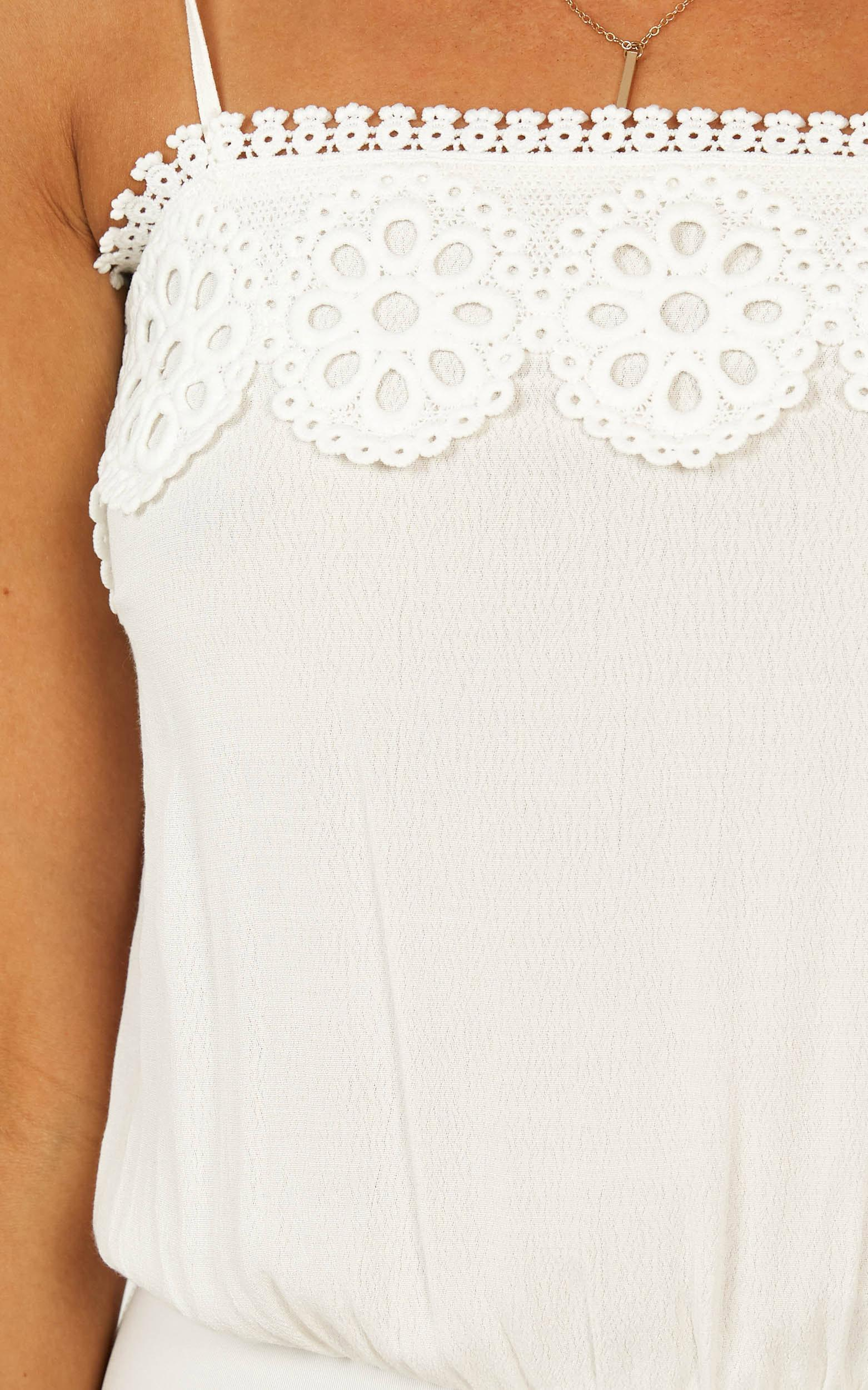 Not a wallflower bodysuit in white - 12 (L), White, hi-res image number null