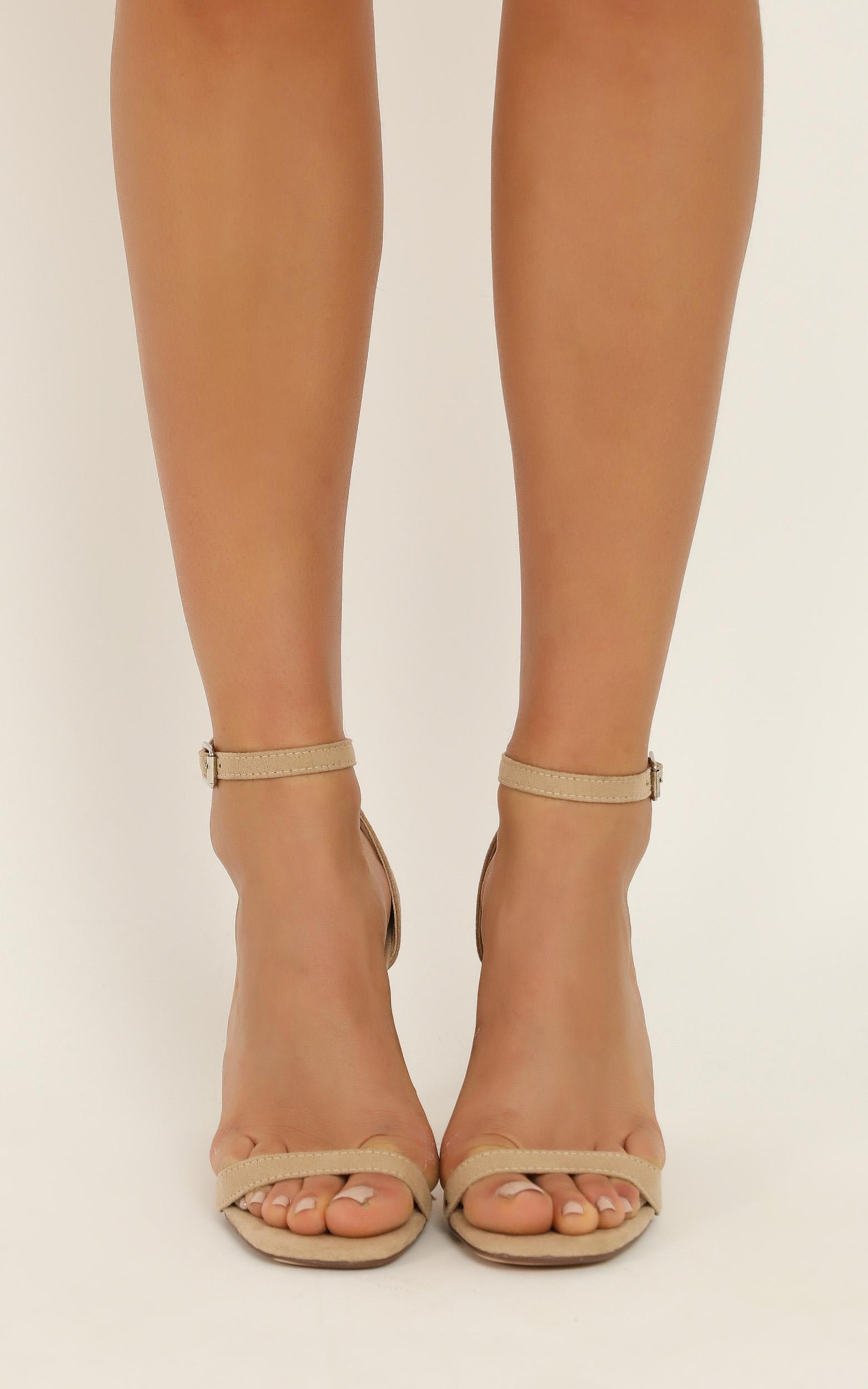 Therapy - Luna Heels in cashew micro - 5, Beige, hi-res image number null
