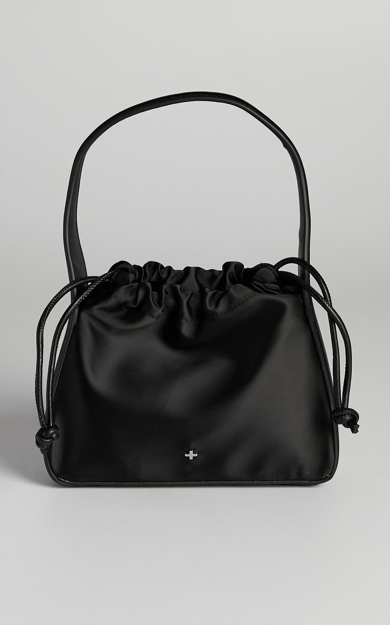 Peta and Jain - Ascot Bag in Black Satin, , hi-res image number null