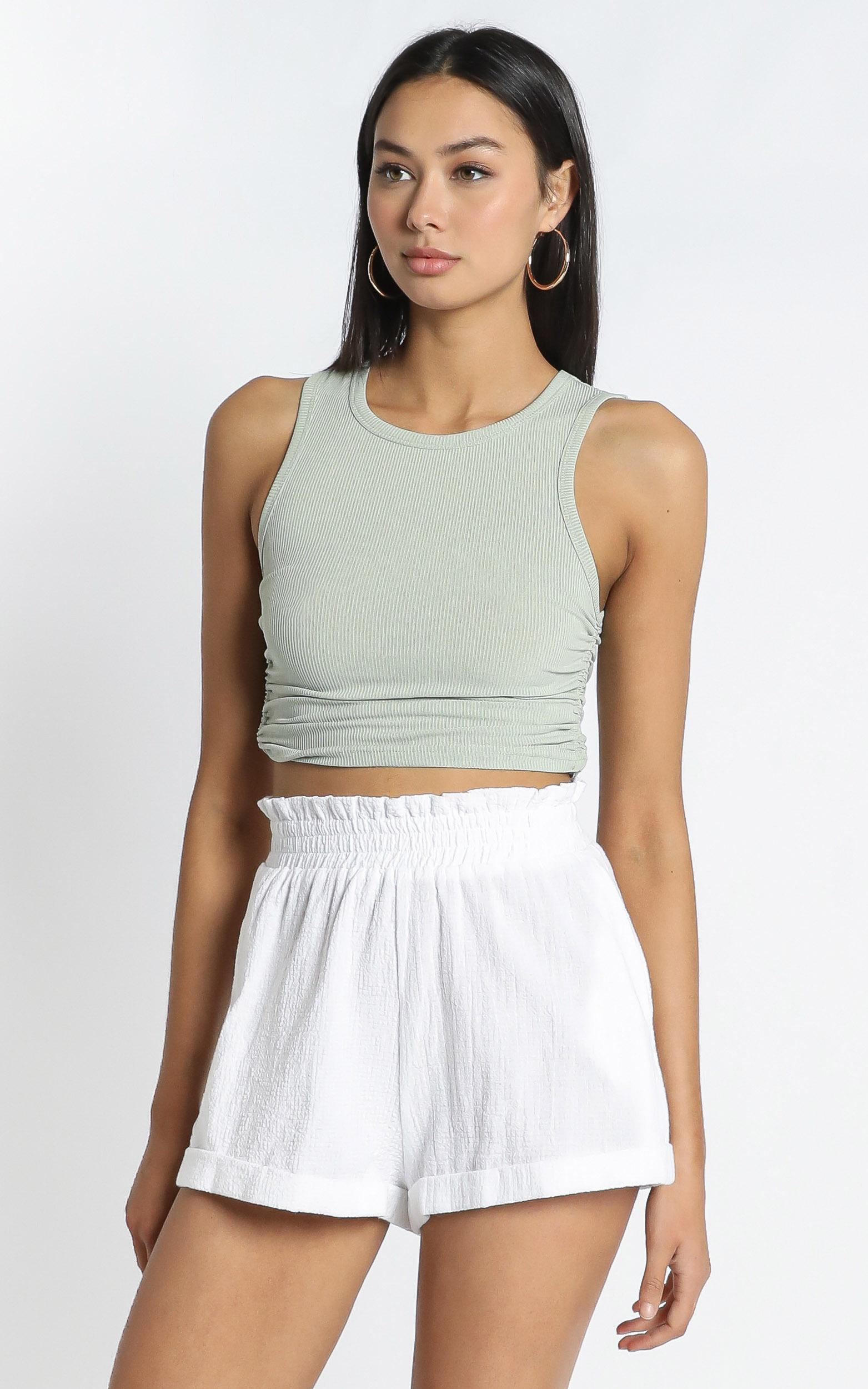 Martha Shorts in White - 12 (L), White, hi-res image number null