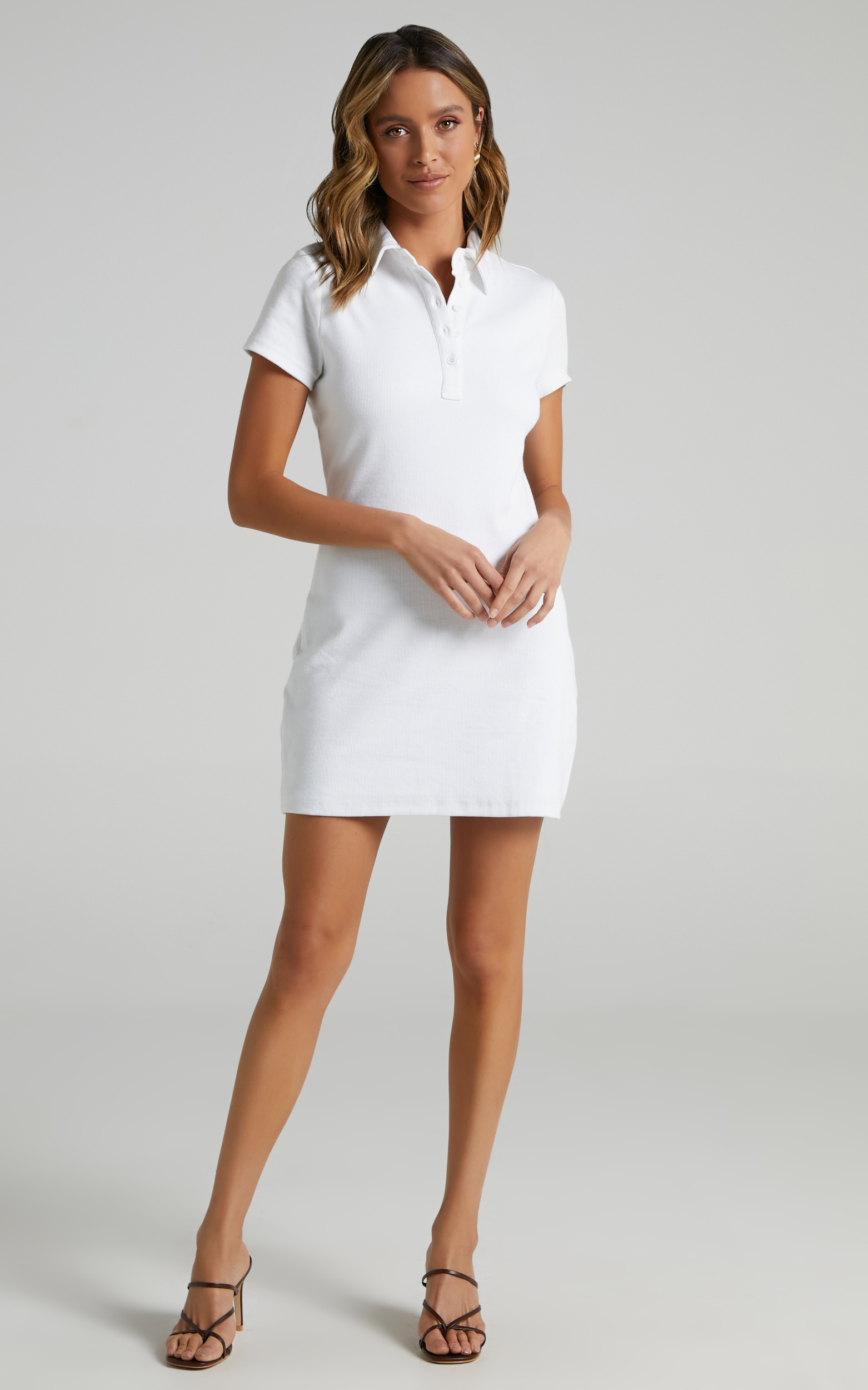 Leros Dress in White - 6 (XS), White, hi-res image number null